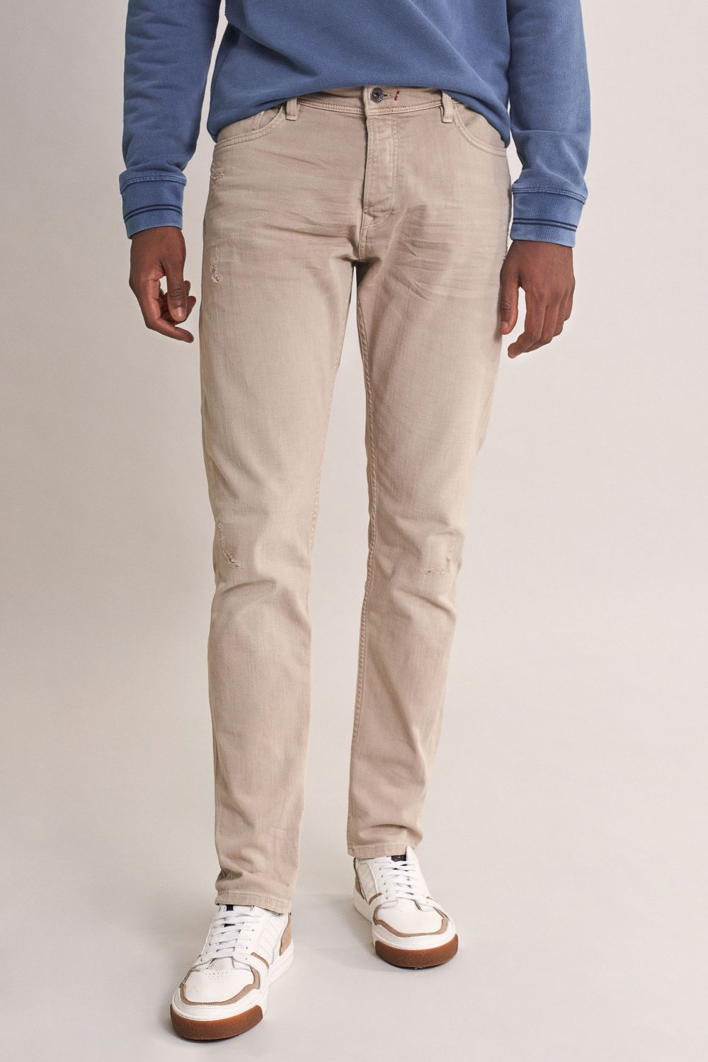 Pantalon clash slim carrot à trous - Salsa