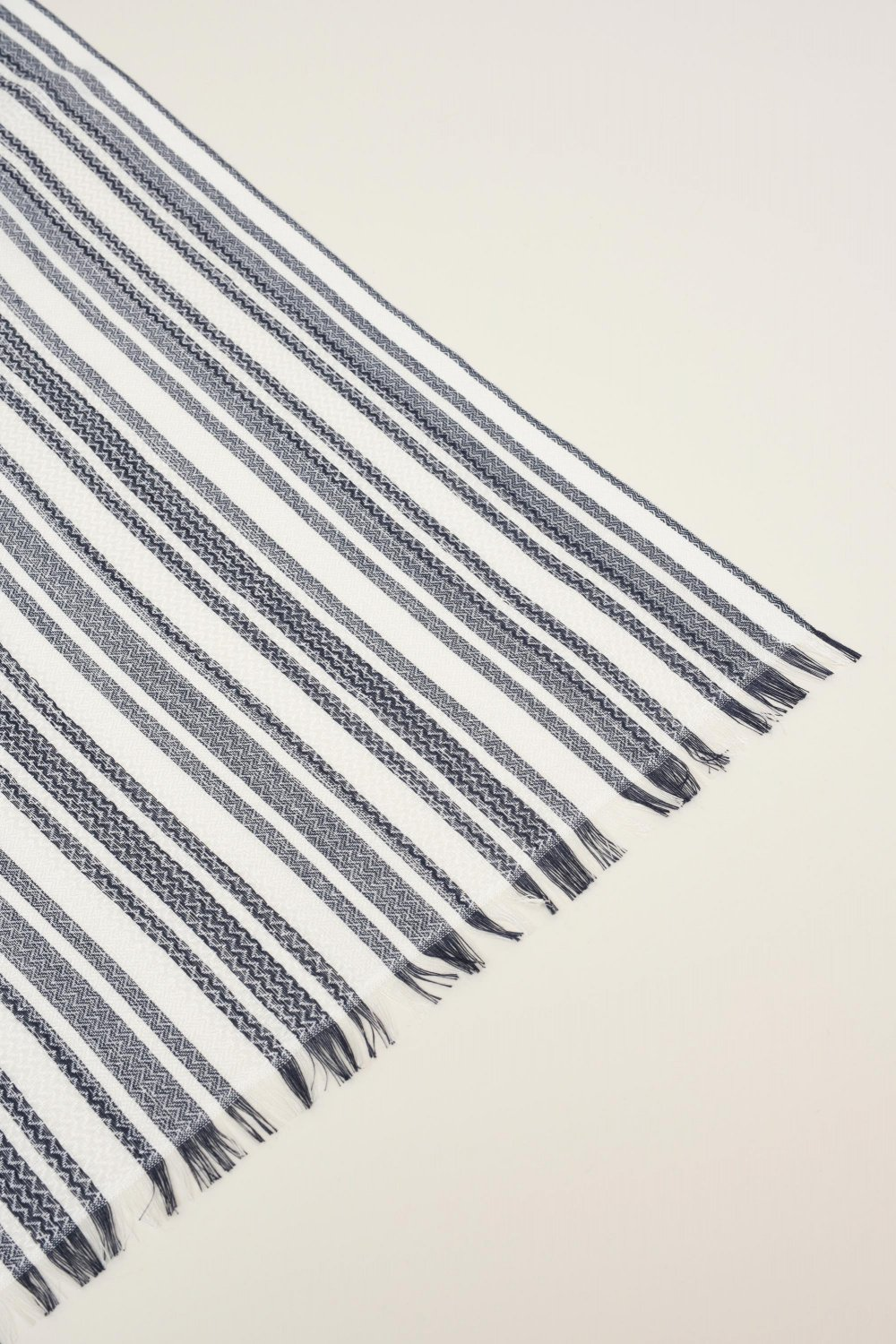 Striped scarf - Salsa