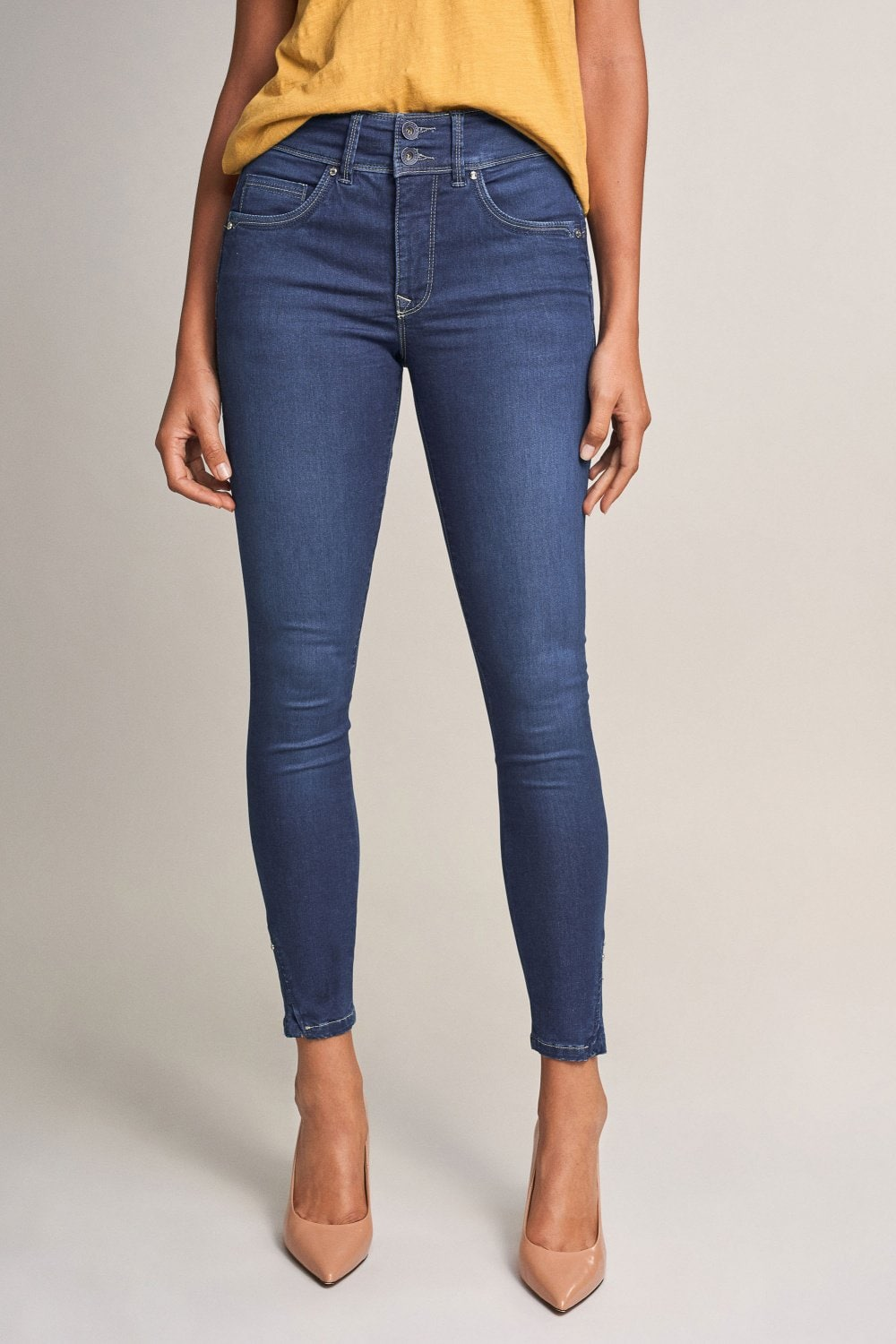 Jeans Push In Secret, Caprihose, mit Nieten - Salsa
