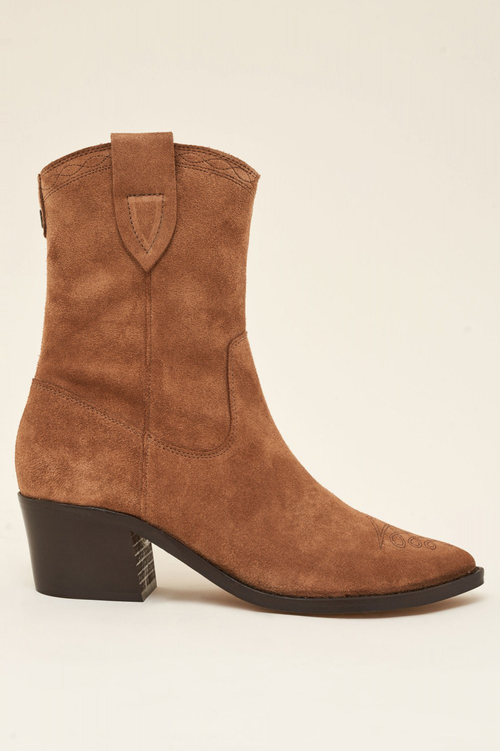Leather Texan boots with low heel - Salsa