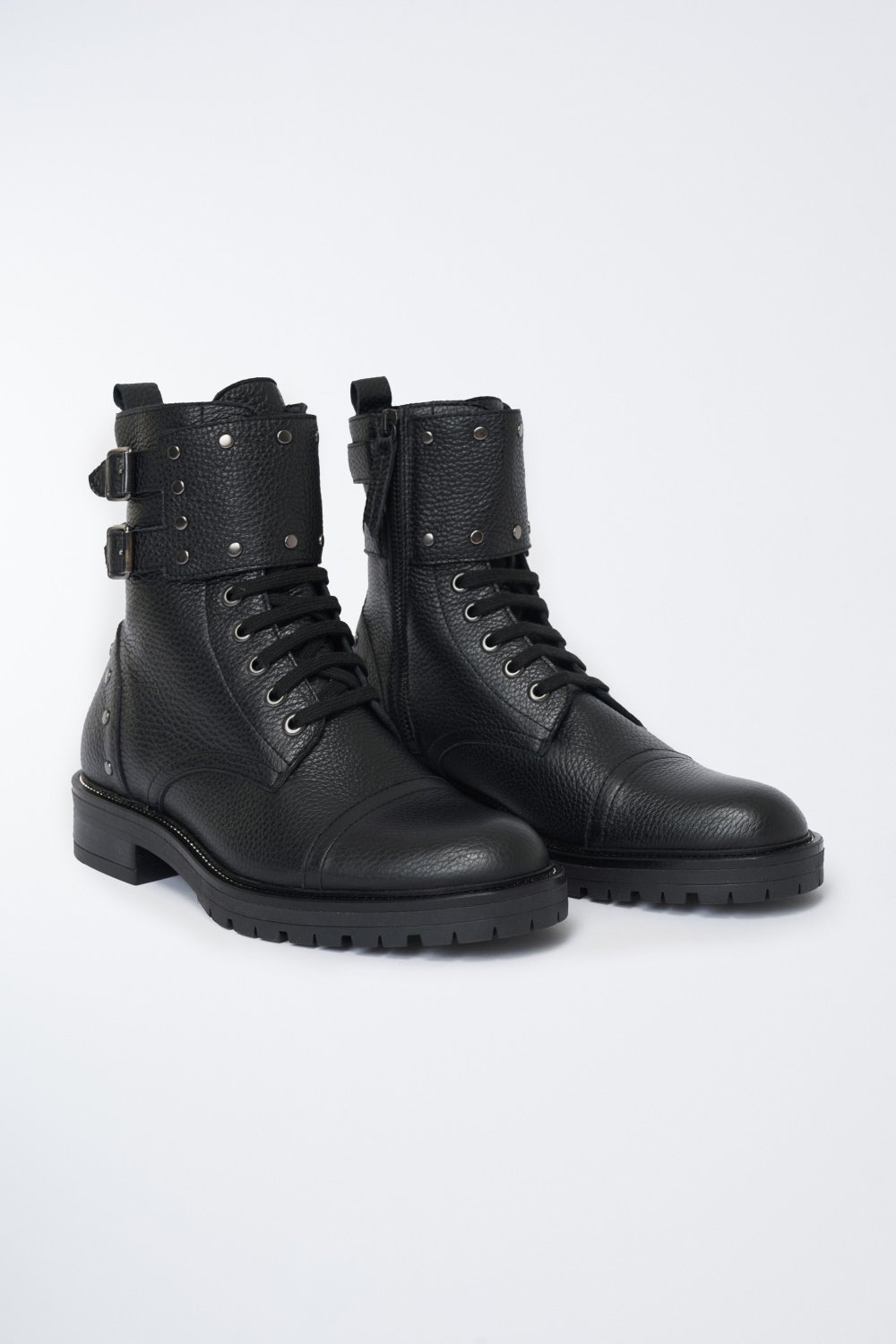 Leather biker boots with studs - Salsa