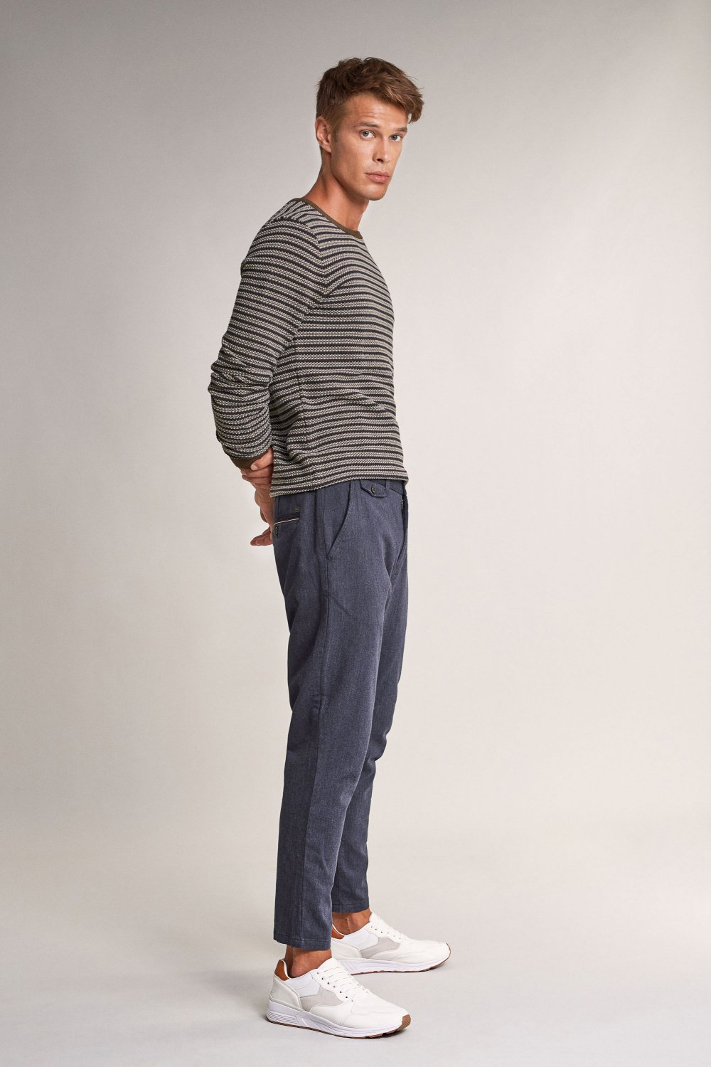 Karl loose slim textured trousers - Salsa