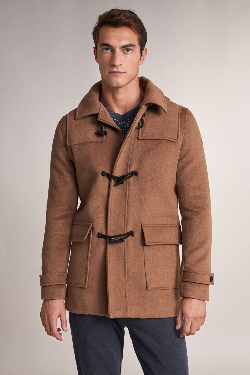 Long farming coat with toggles - Salsa
