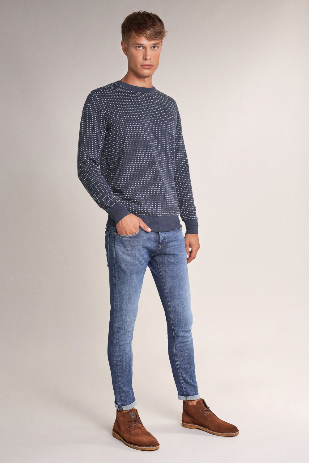 Thin Jacquard sweater - Salsa