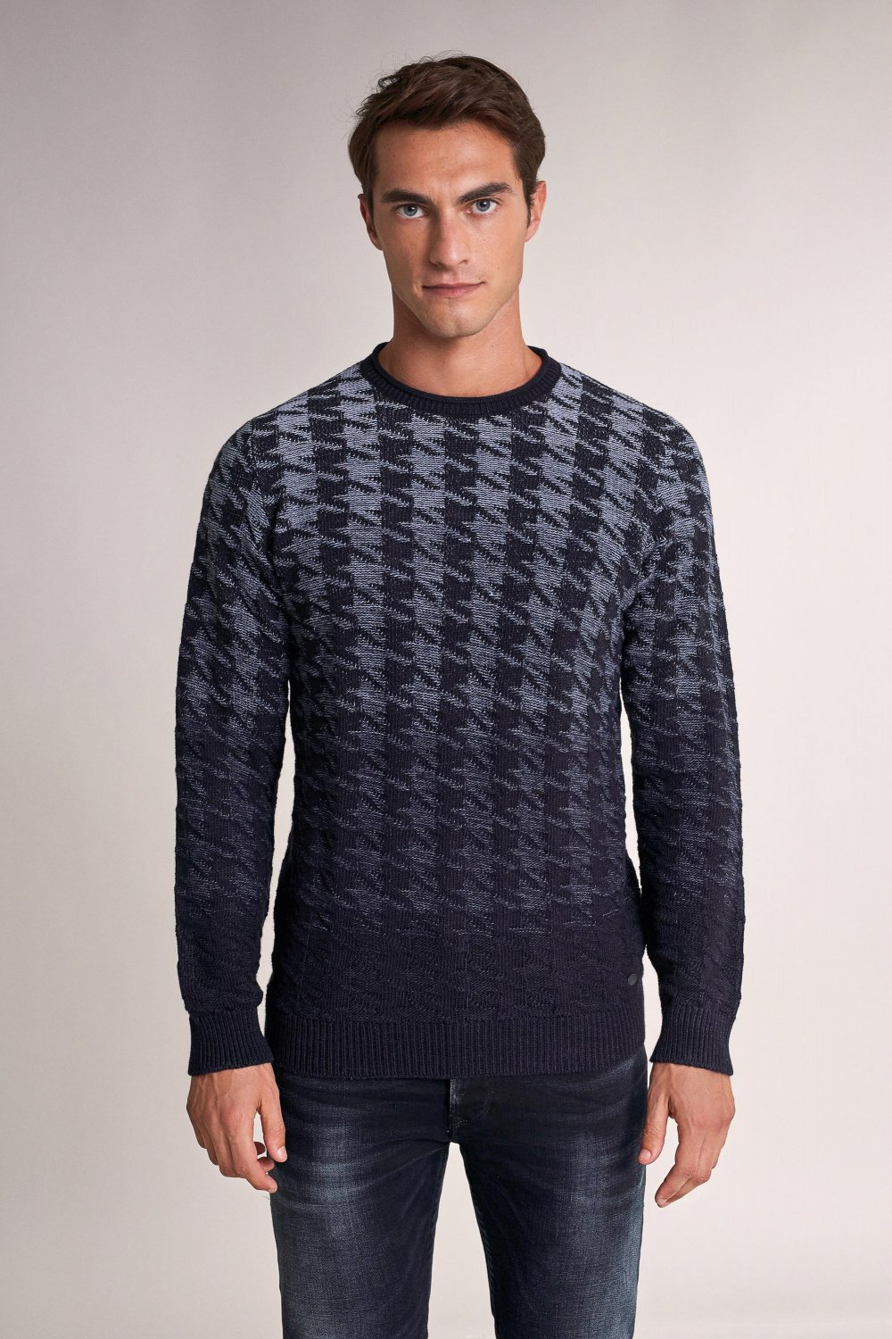 Thick jacquard sweater - Salsa