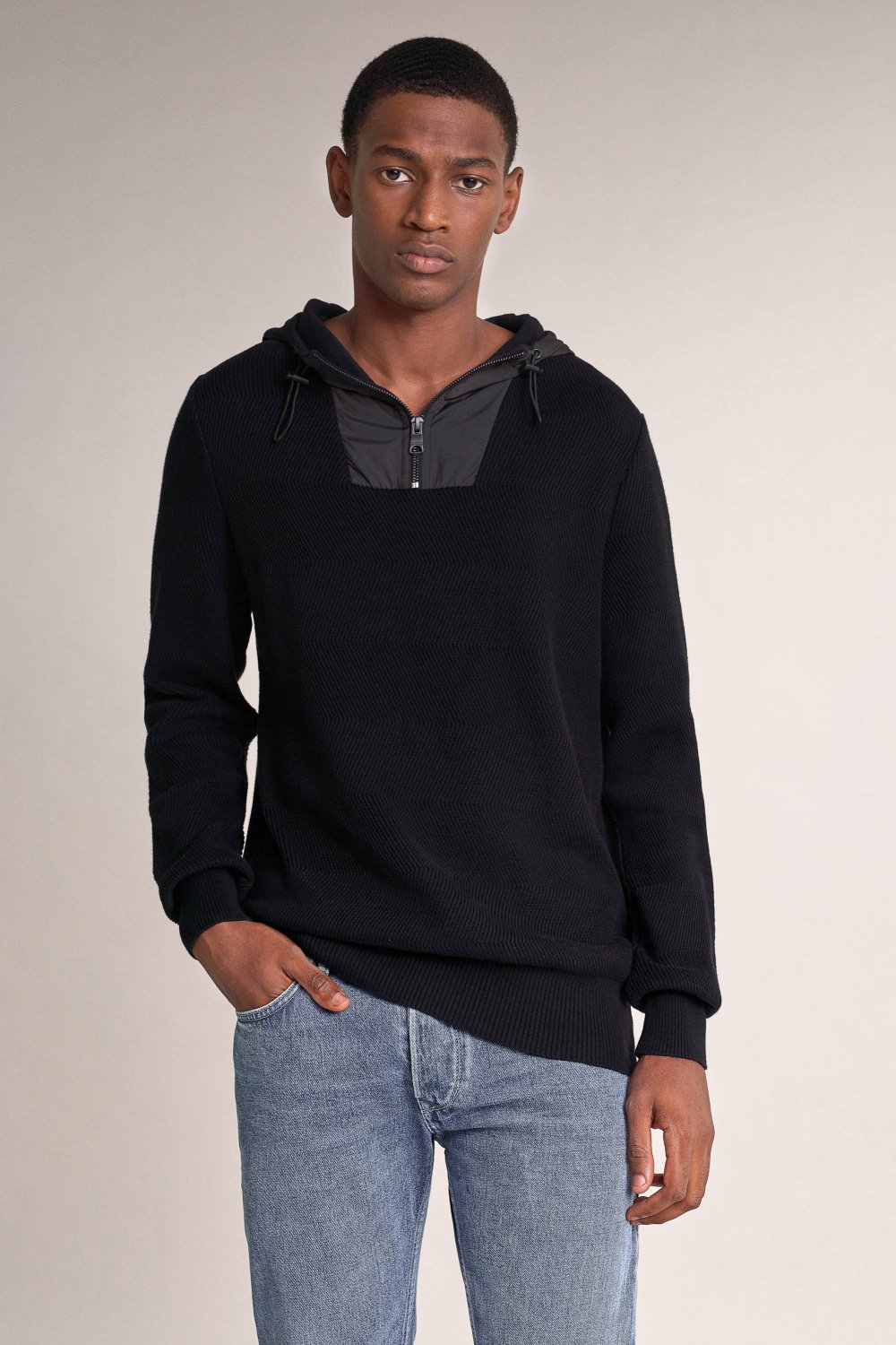 Polo neck sweater with zip - Salsa