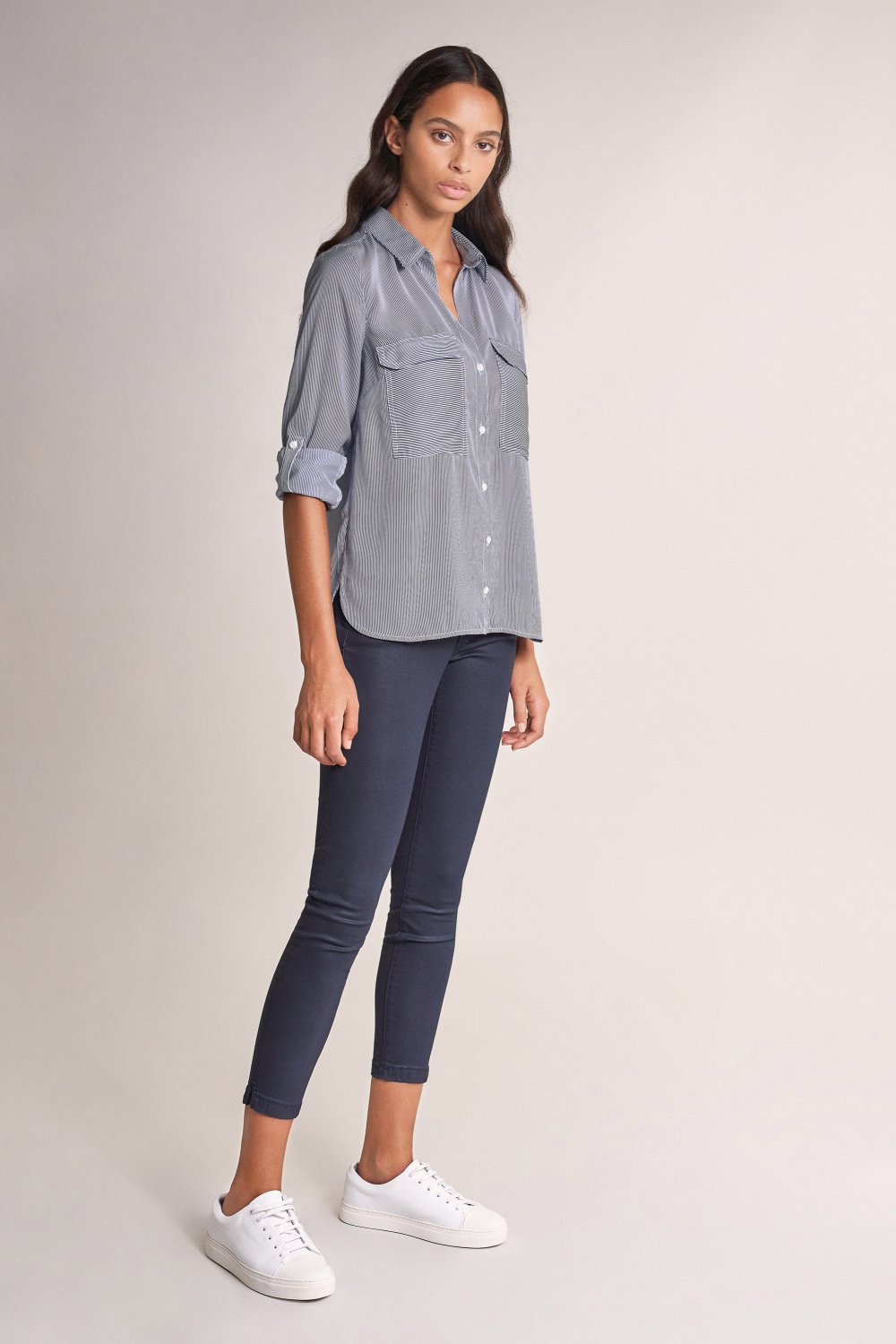 Camicia fit regular in denim fit strutturata - Salsa