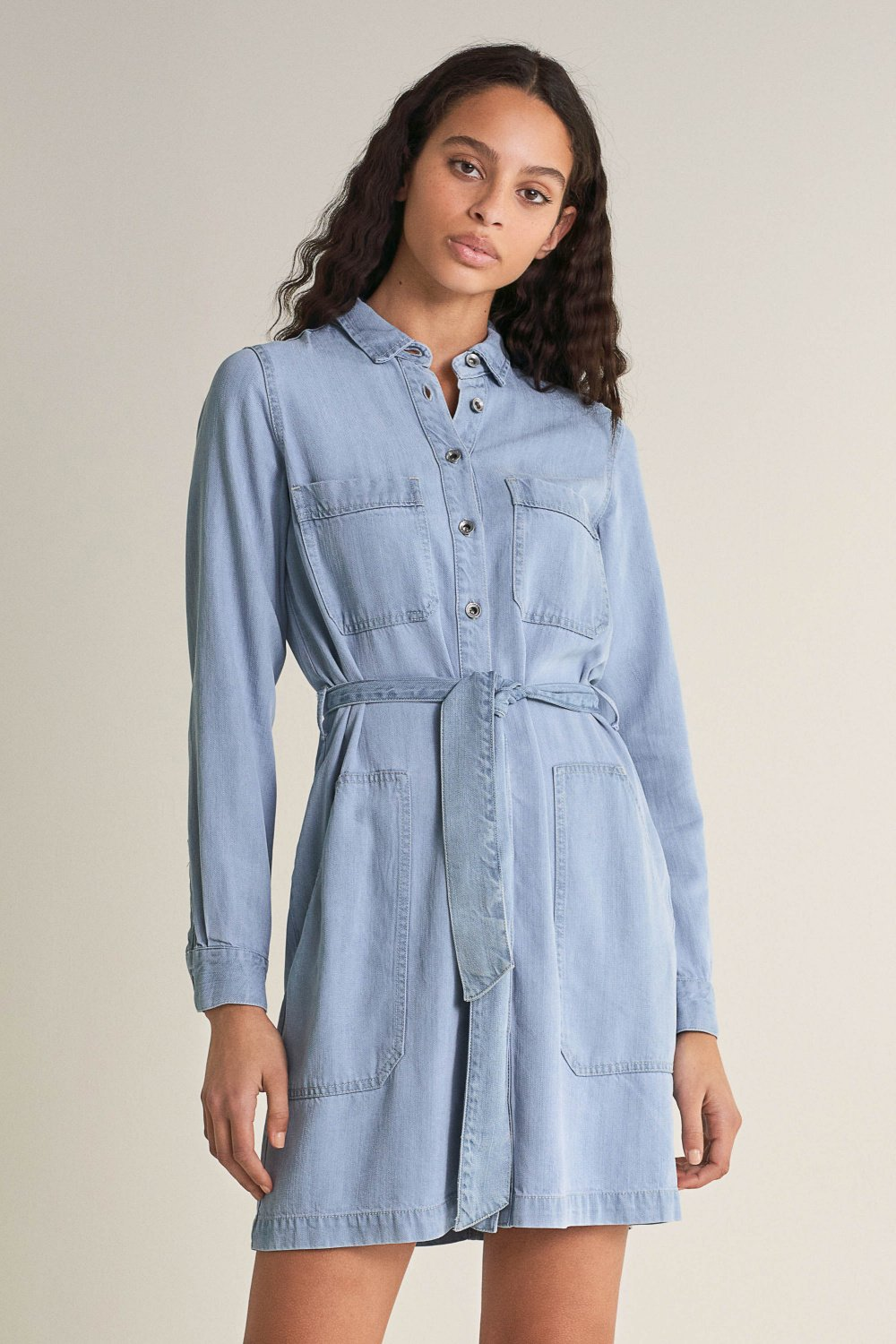 Shirt dress with pockets - Salsa