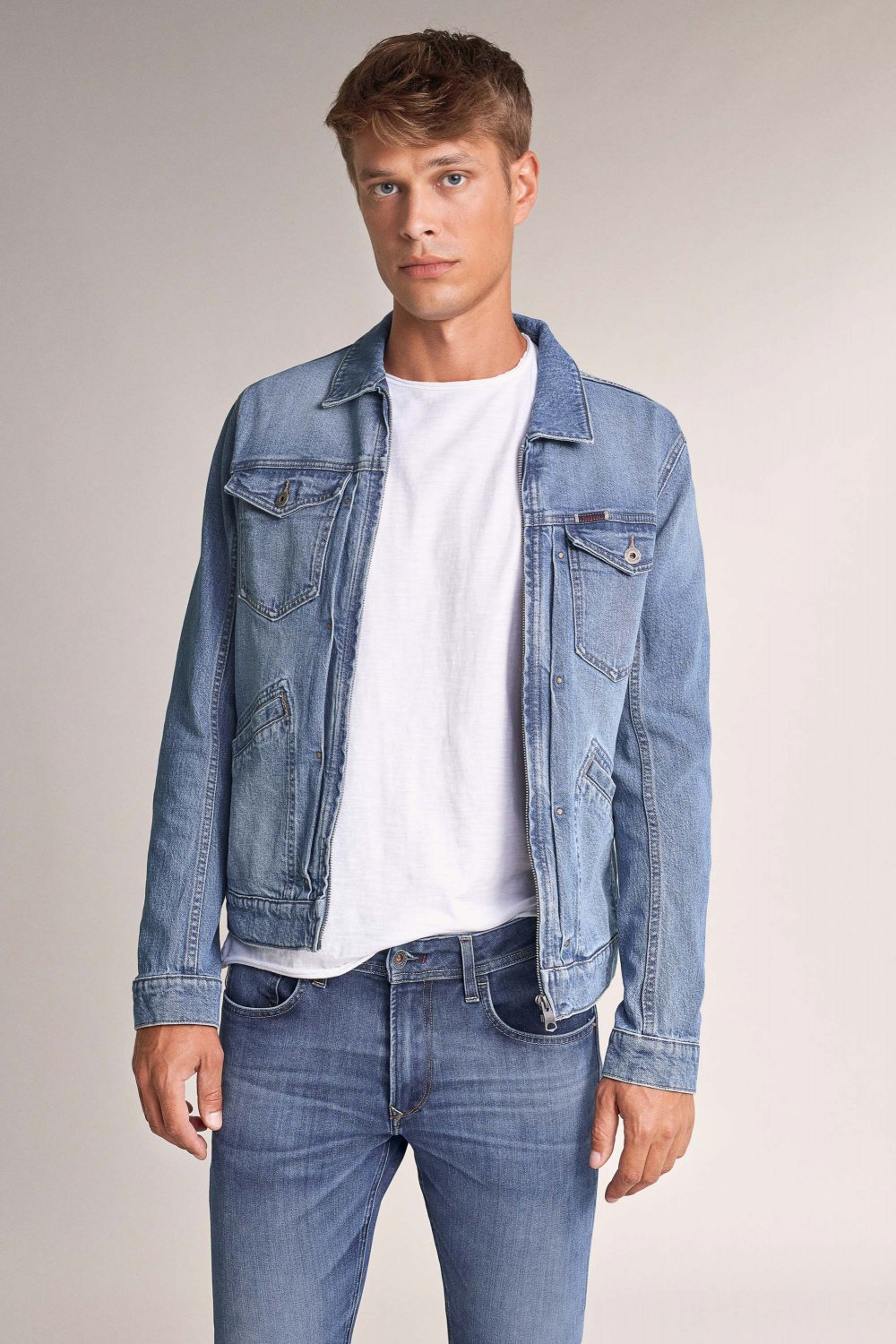 Zip-up denim jacket - Salsa
