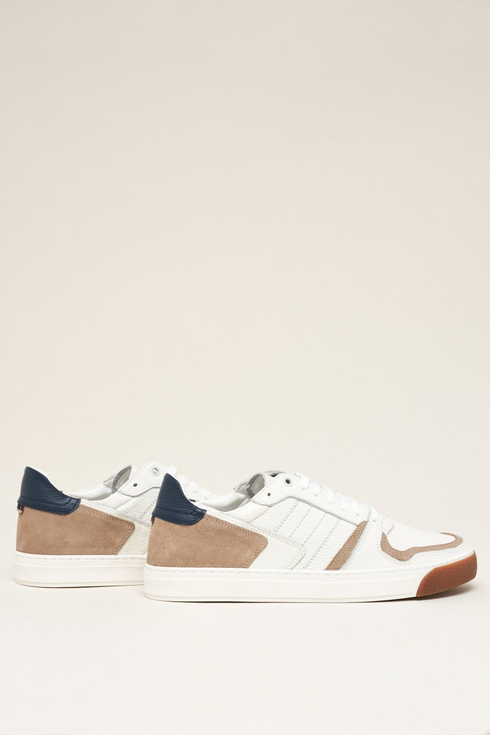 Leather trainers with suede inserts - Salsa