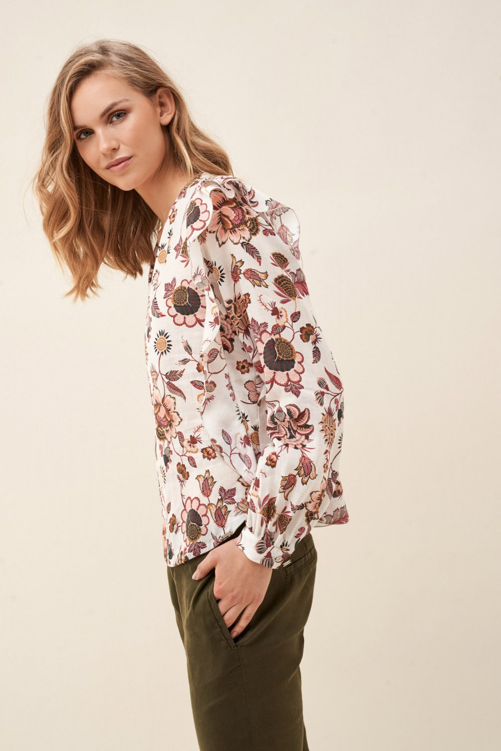 Floral tunic with allover - Salsa