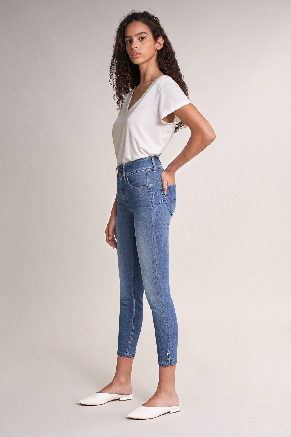 Push In Secret capri jeans with detail on hem - Salsa
