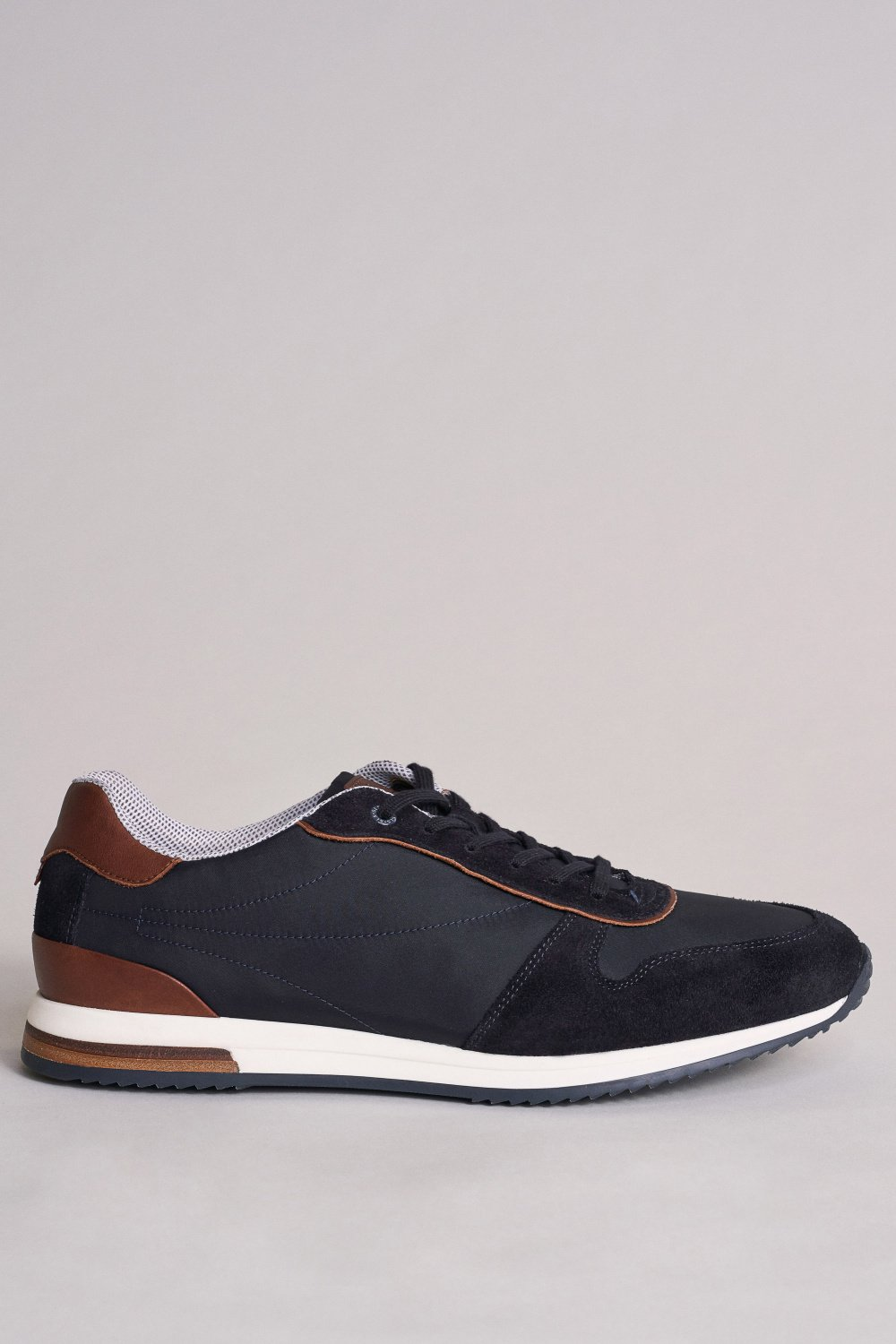 Suede trainers with leather inserts - Salsa
