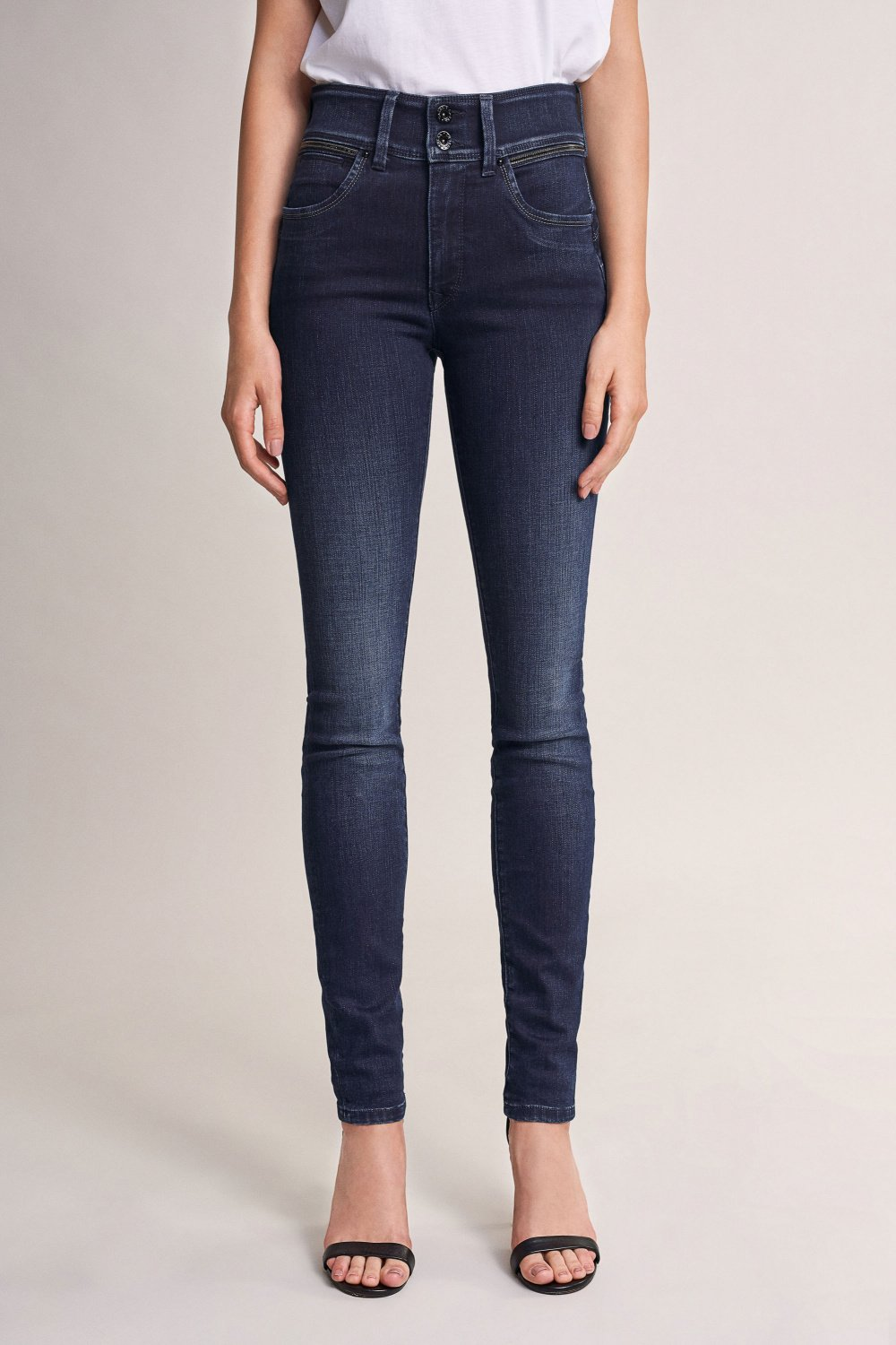 Push In Secret skinny jeans with sparkle on belt - Salsa