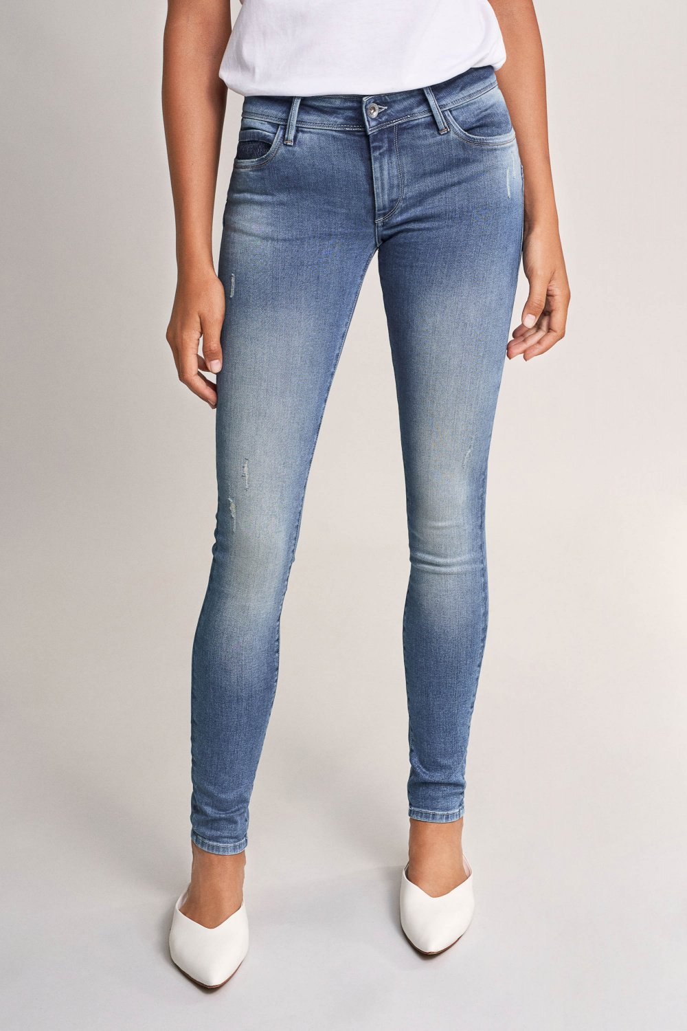 Jeans Push Up Wonder, Skinny, mit Detail - Salsa