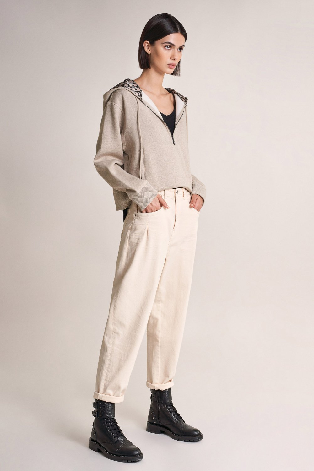 Oversize sweatshirt with hood - Salsa