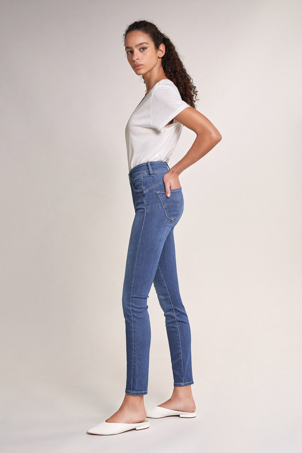 Push In Secret skinny jeans with braid - Salsa