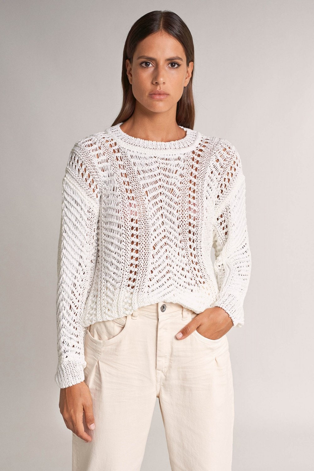 Oversize knitted sweater - Salsa