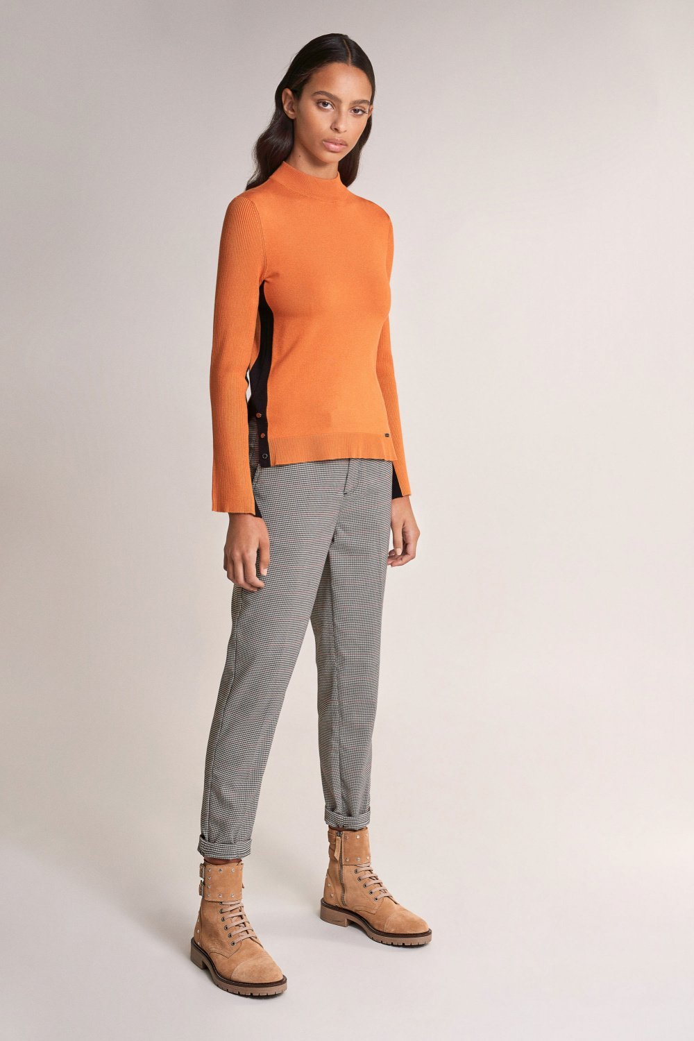 Polo neck sweater with contrast - Salsa