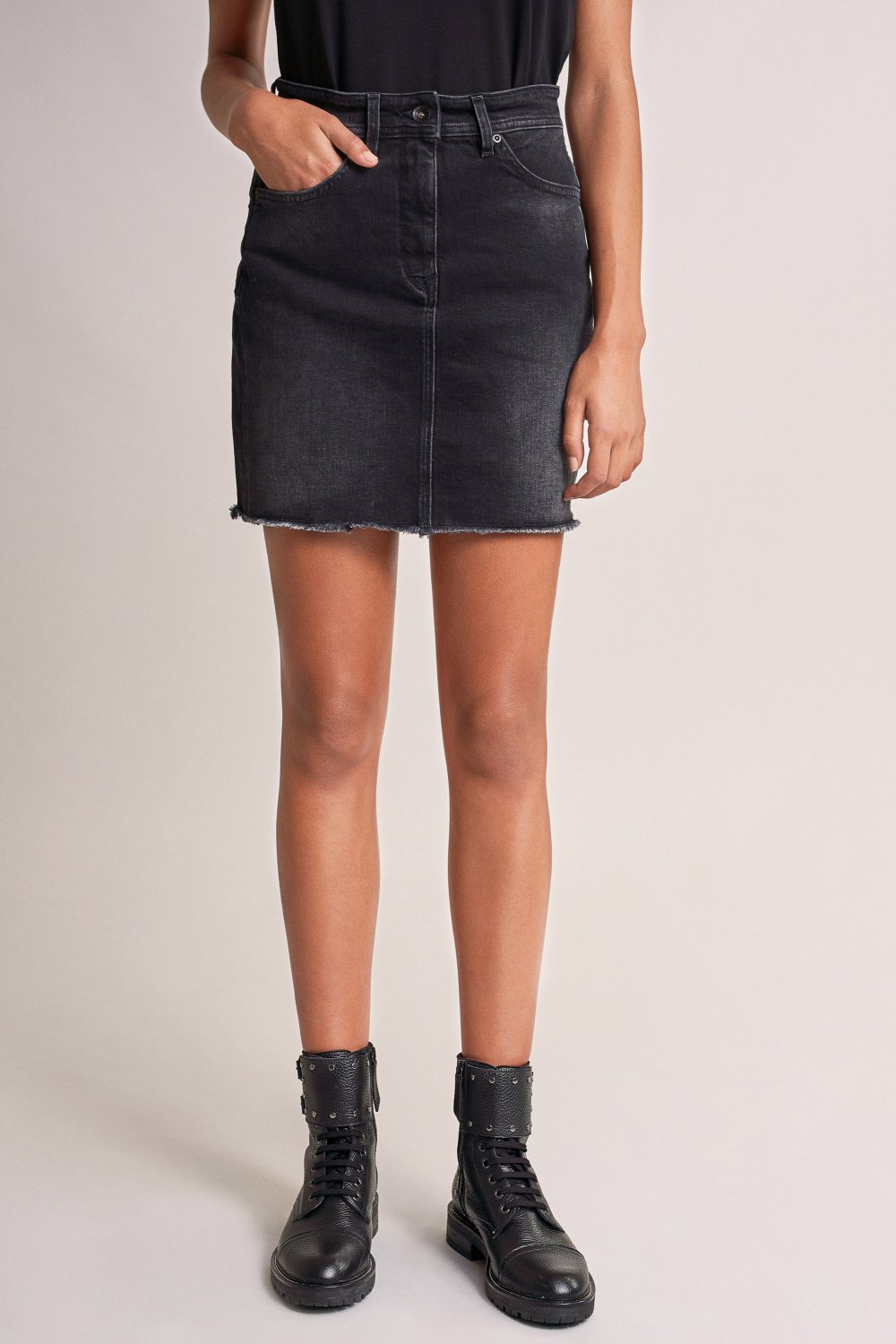 Push In Secret Glamour mini skirt in denim - Salsa