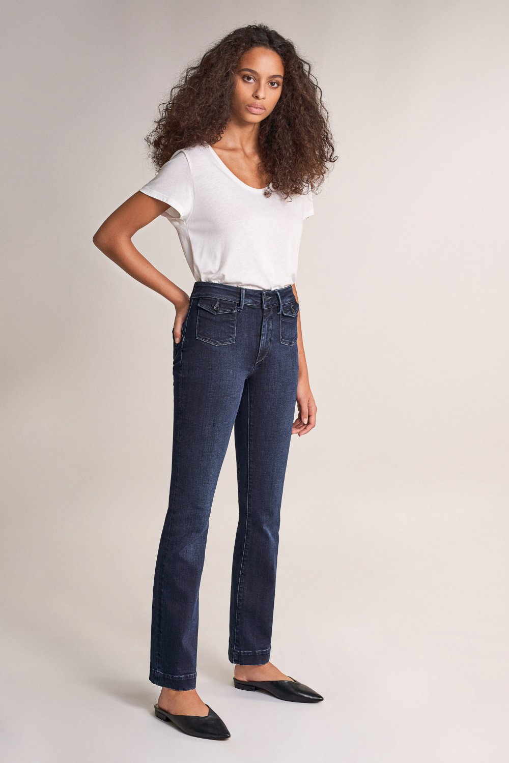 Push Up Wonder boot cut high-waisted jeans - Salsa