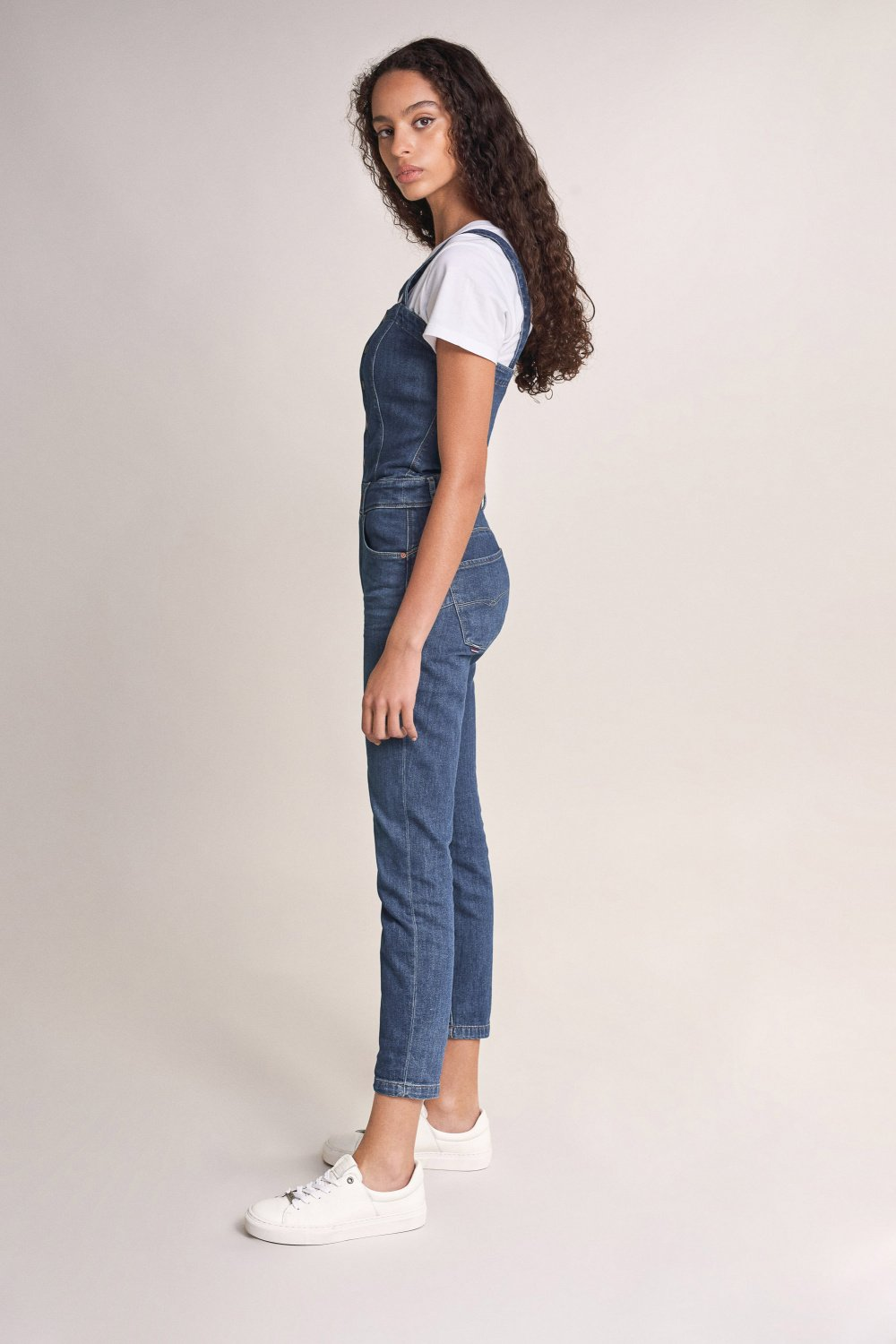 Push In Secret Glamour denim dungarees with clips - Salsa