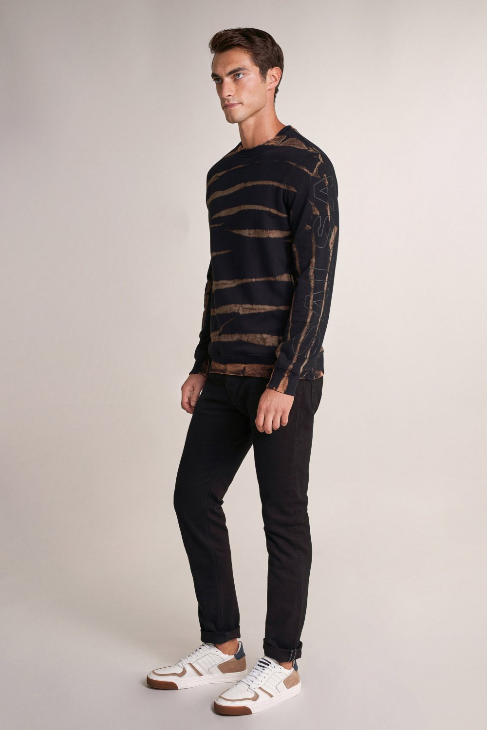 Stain effect sweater - Salsa
