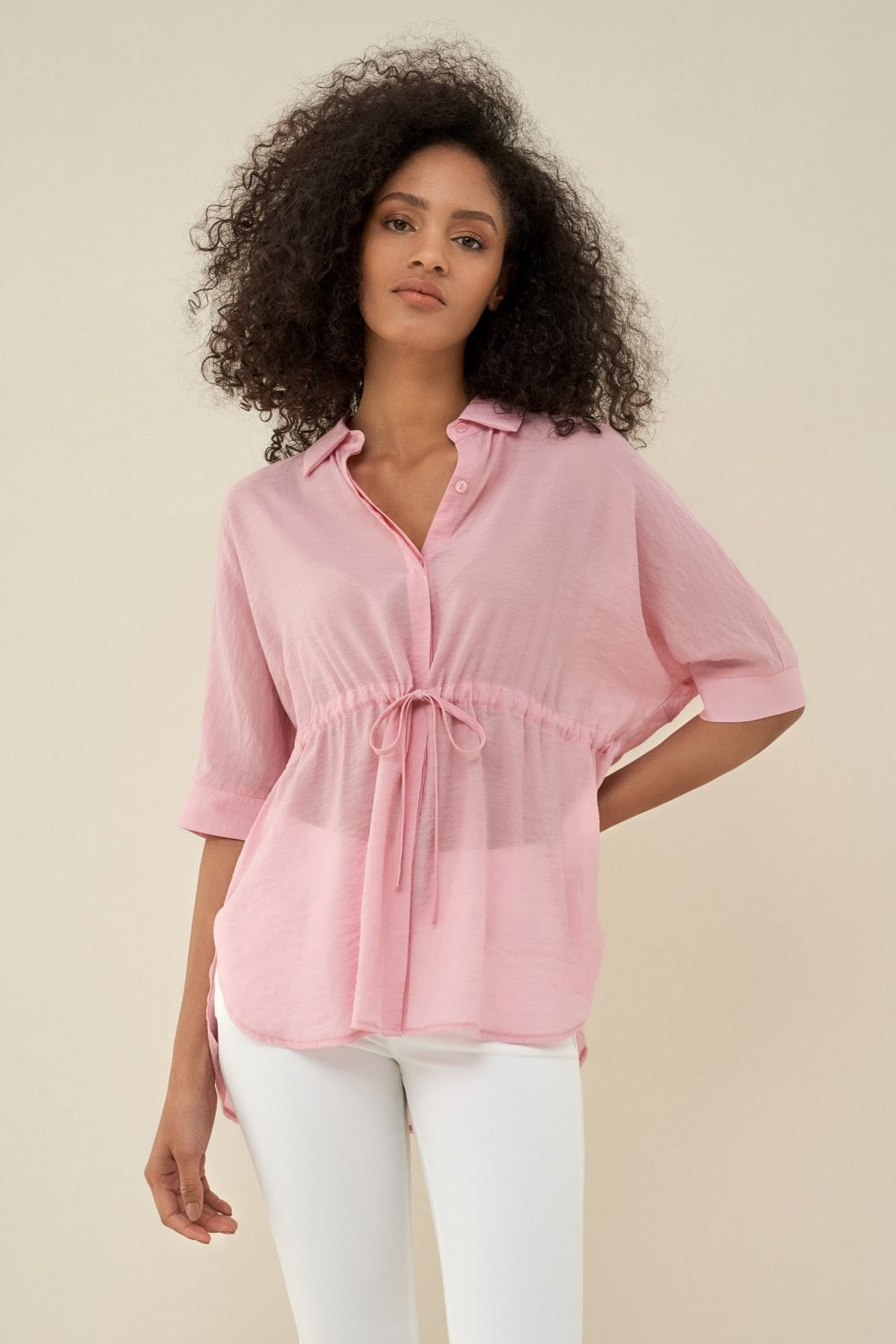Camicia regular fit con cintura - Salsa