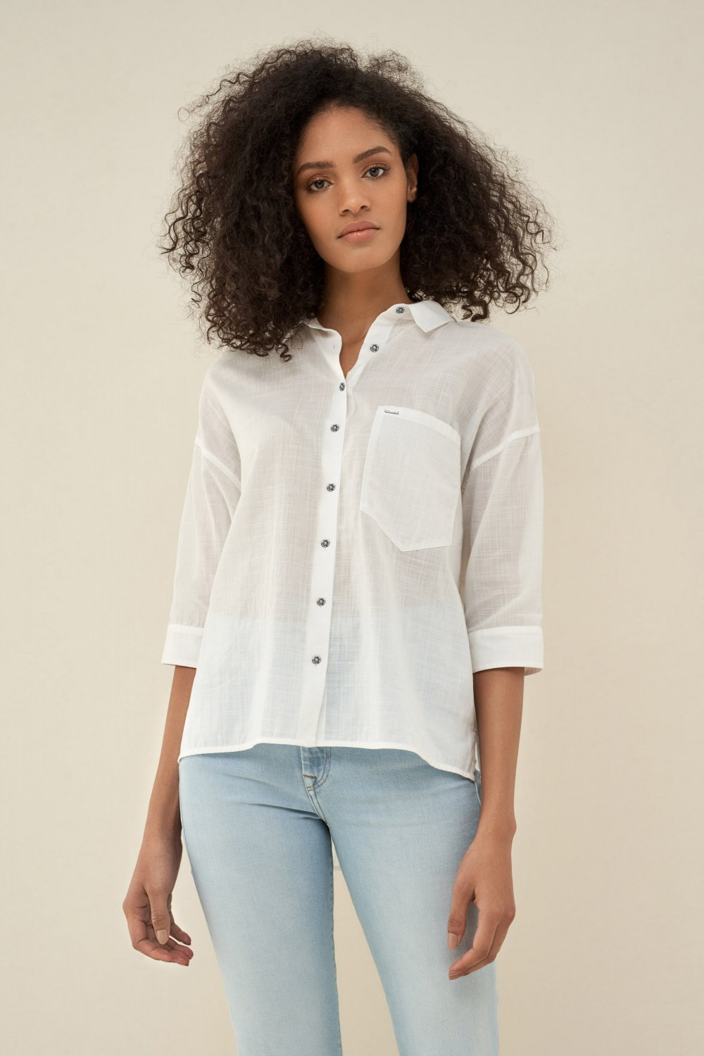Regular fit shirt with pocket - Salsa