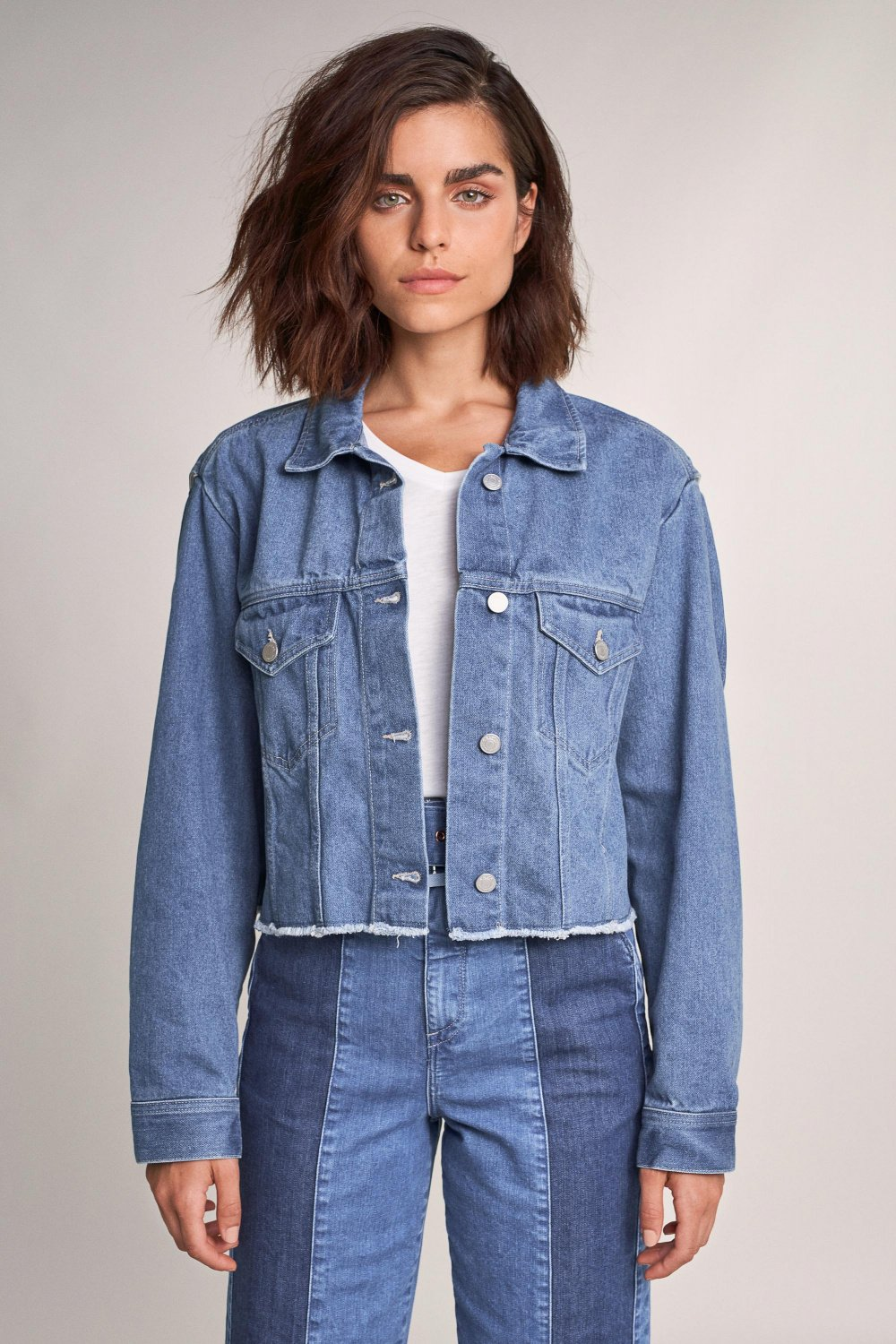 Premium Blue denim jacket with print - Salsa