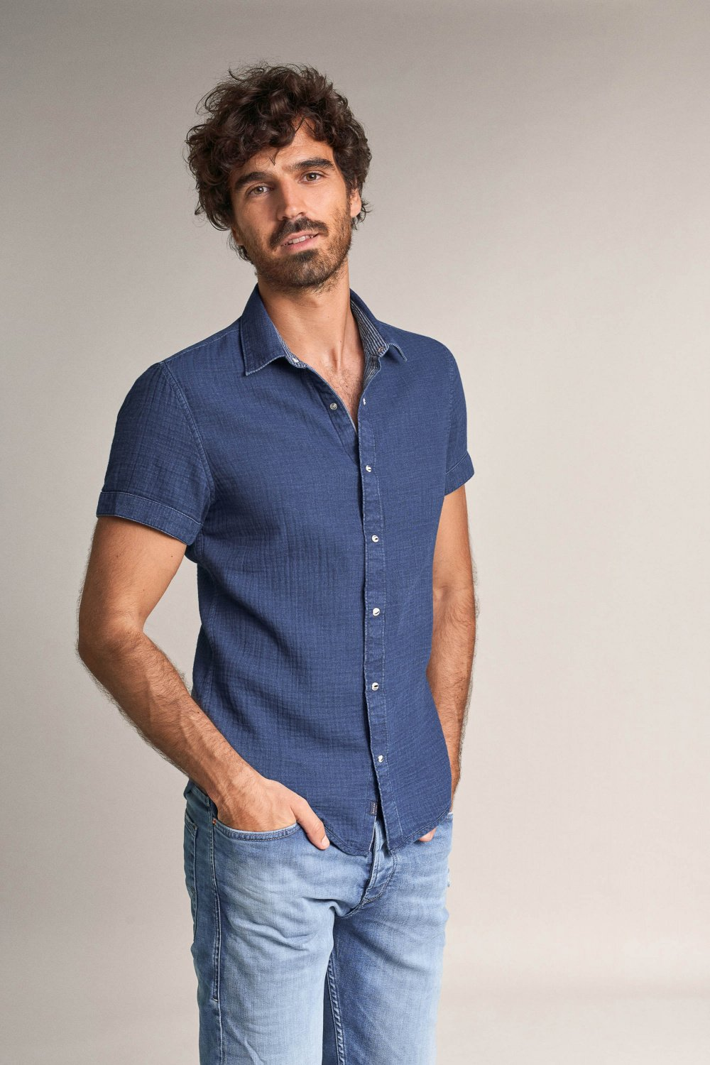 Reversible slim fit shirt - Salsa