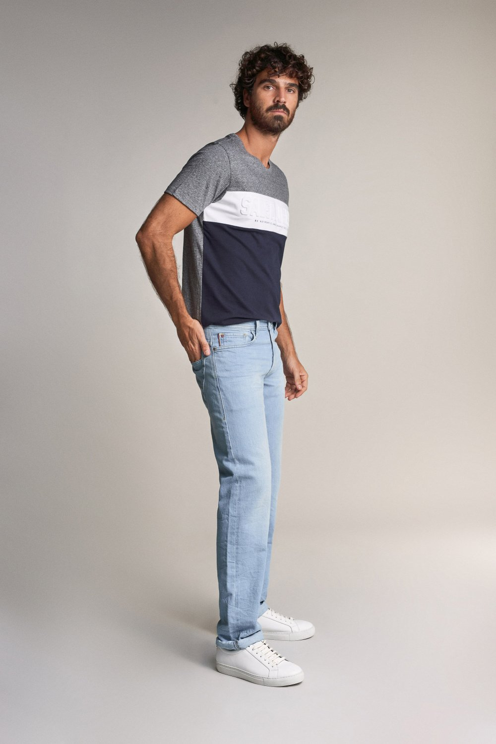 Navarro straight jeans with rinsed effect - Salsa