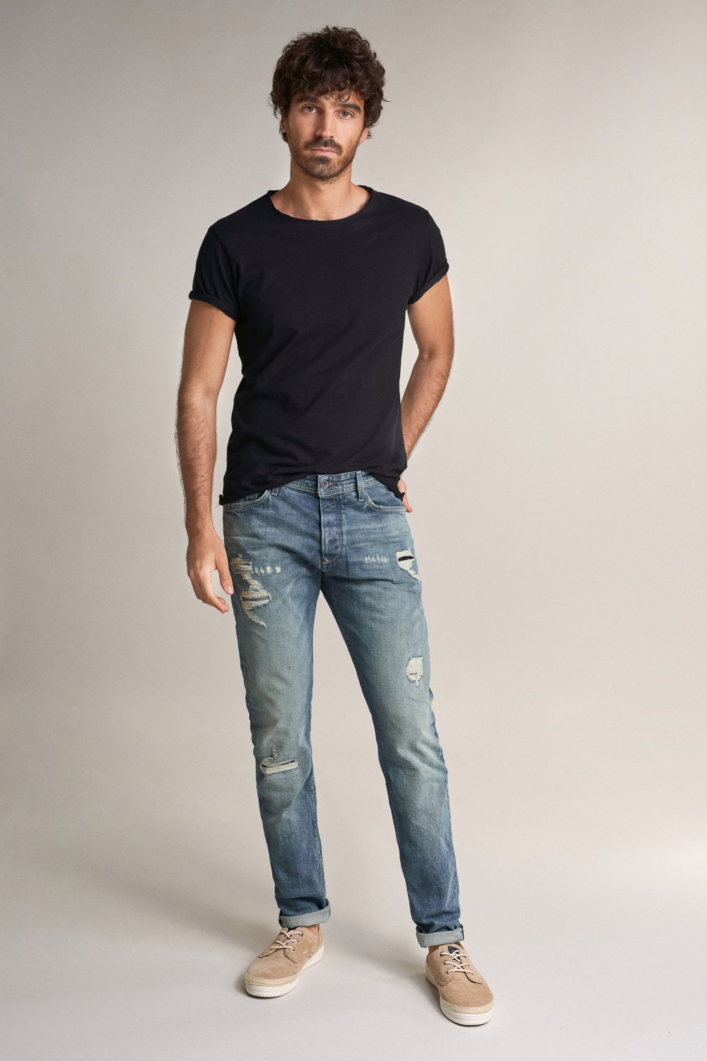 Jeans slender slim carrot ready to go com rotos - Salsa