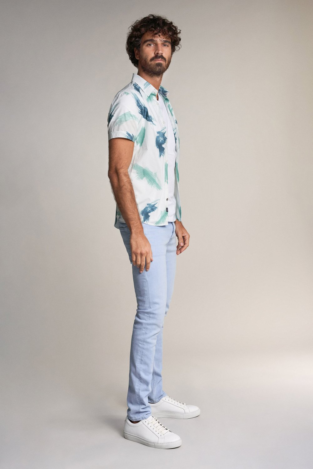 Print slim fit short-sleeved shirt - Salsa