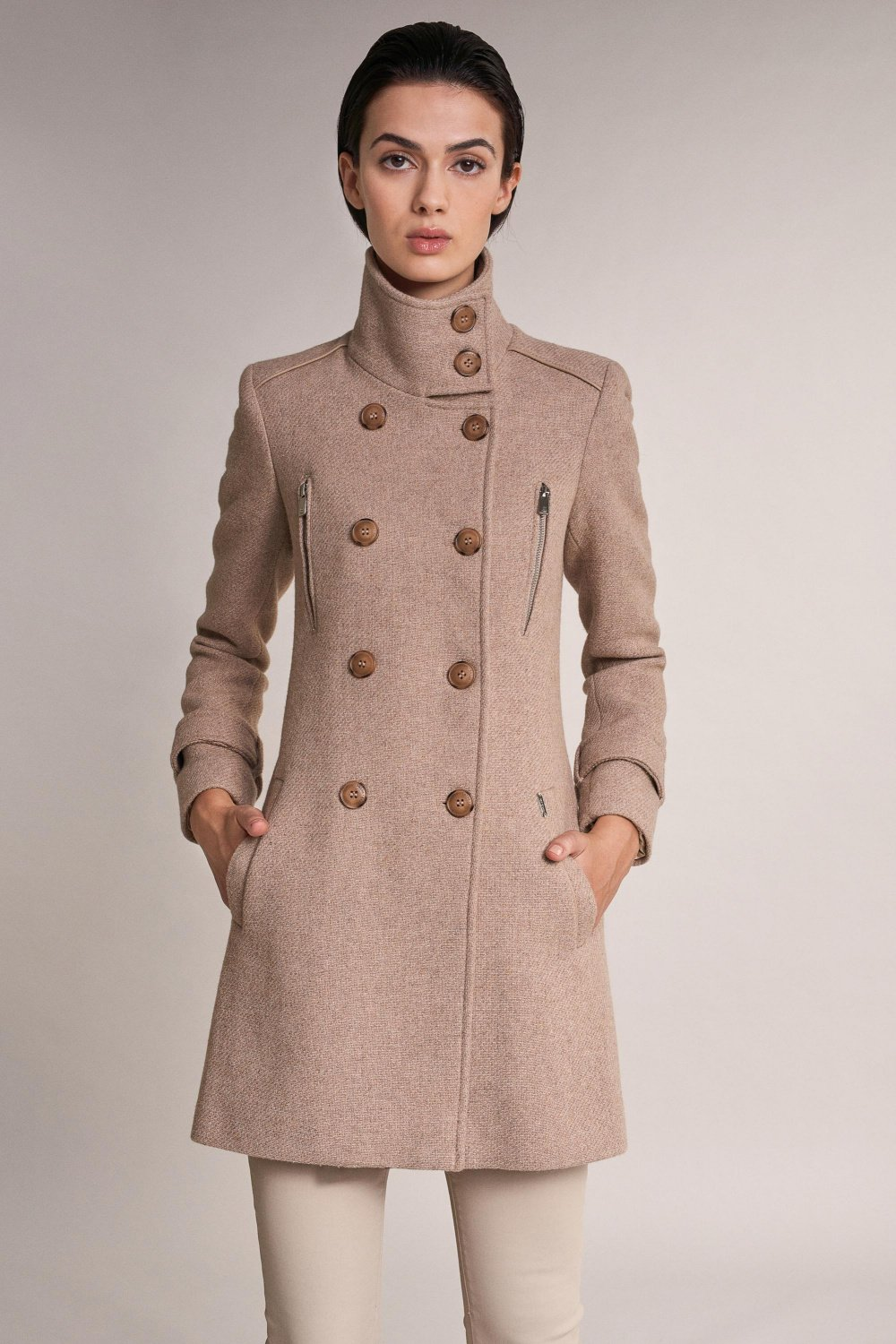 Long duffle coat with detail - Salsa