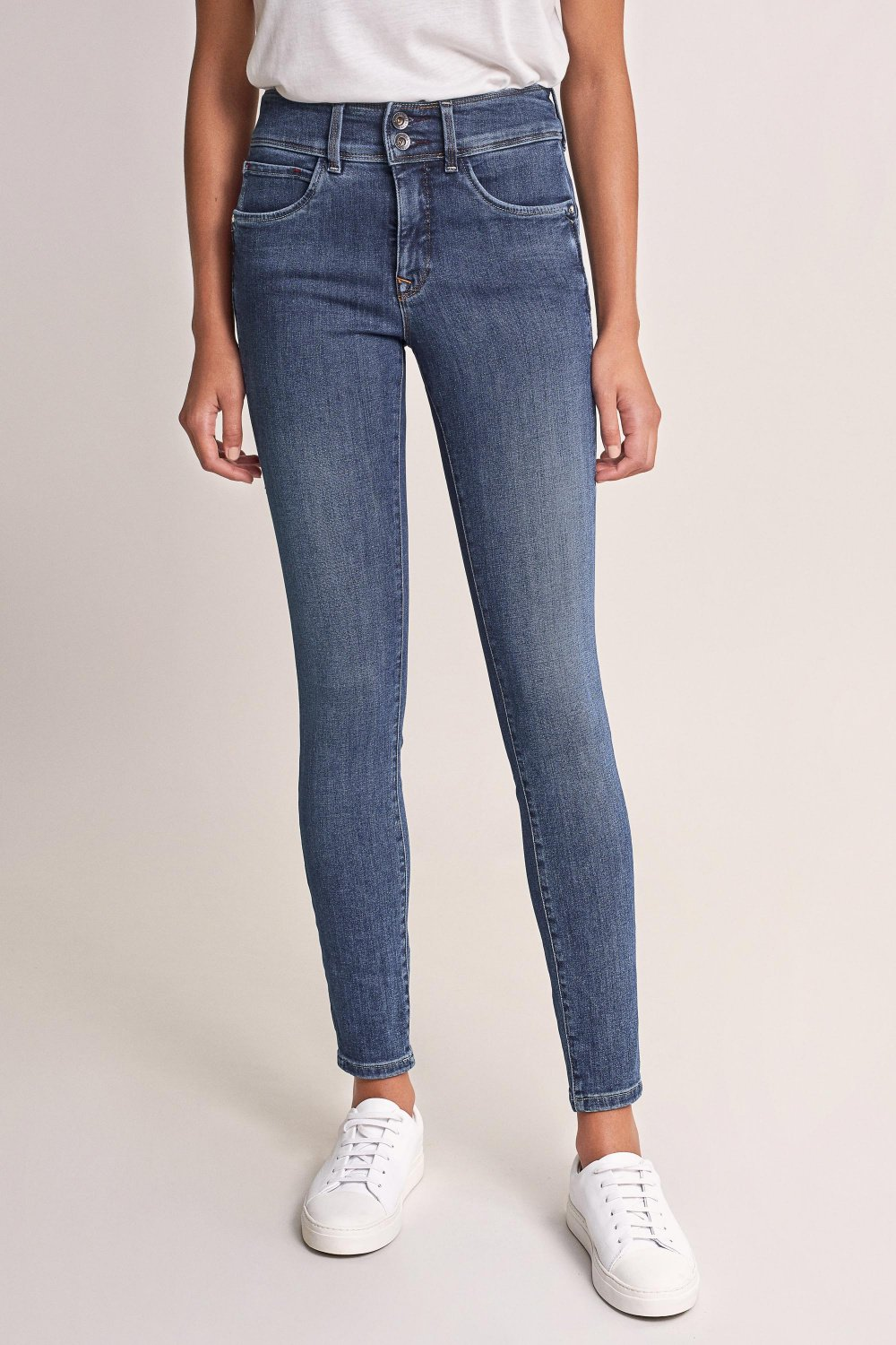 Push In Secret skinny jeans with details - Salsa