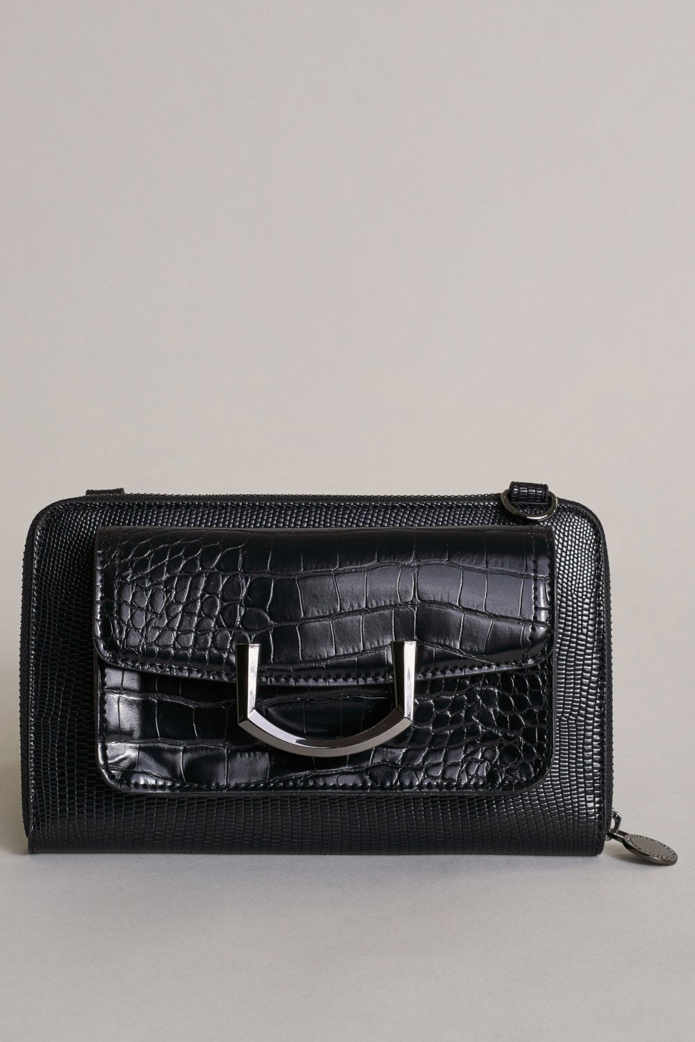 ´INVICTA´ Small handbag with croc effect - Salsa