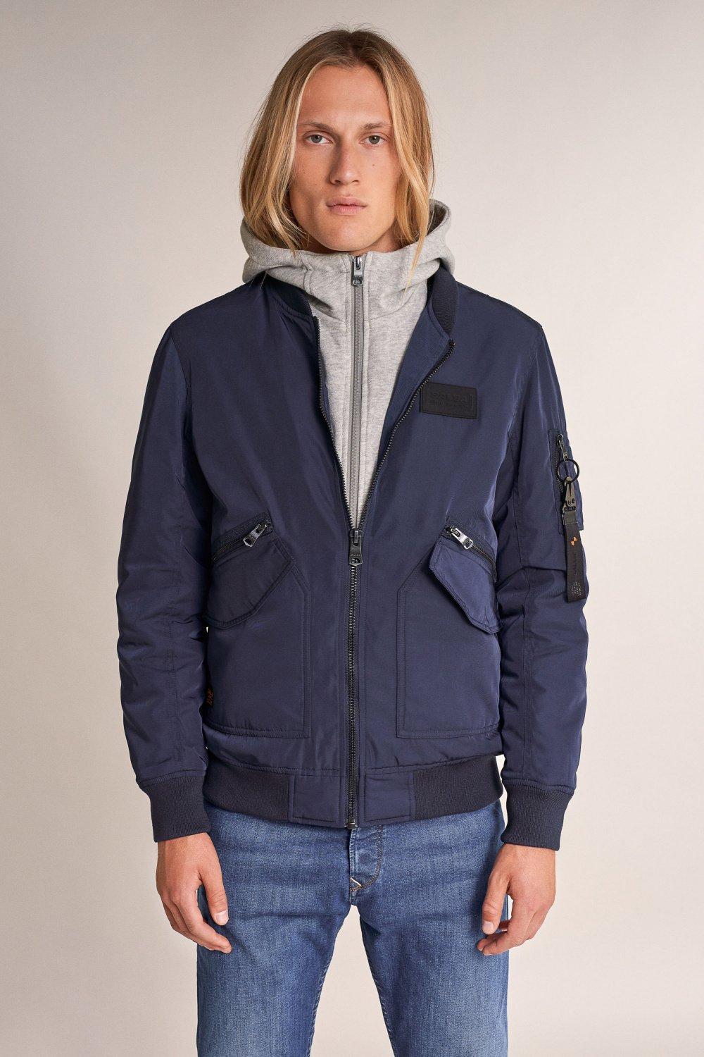 Lined padded jacket with removable hood - Salsa