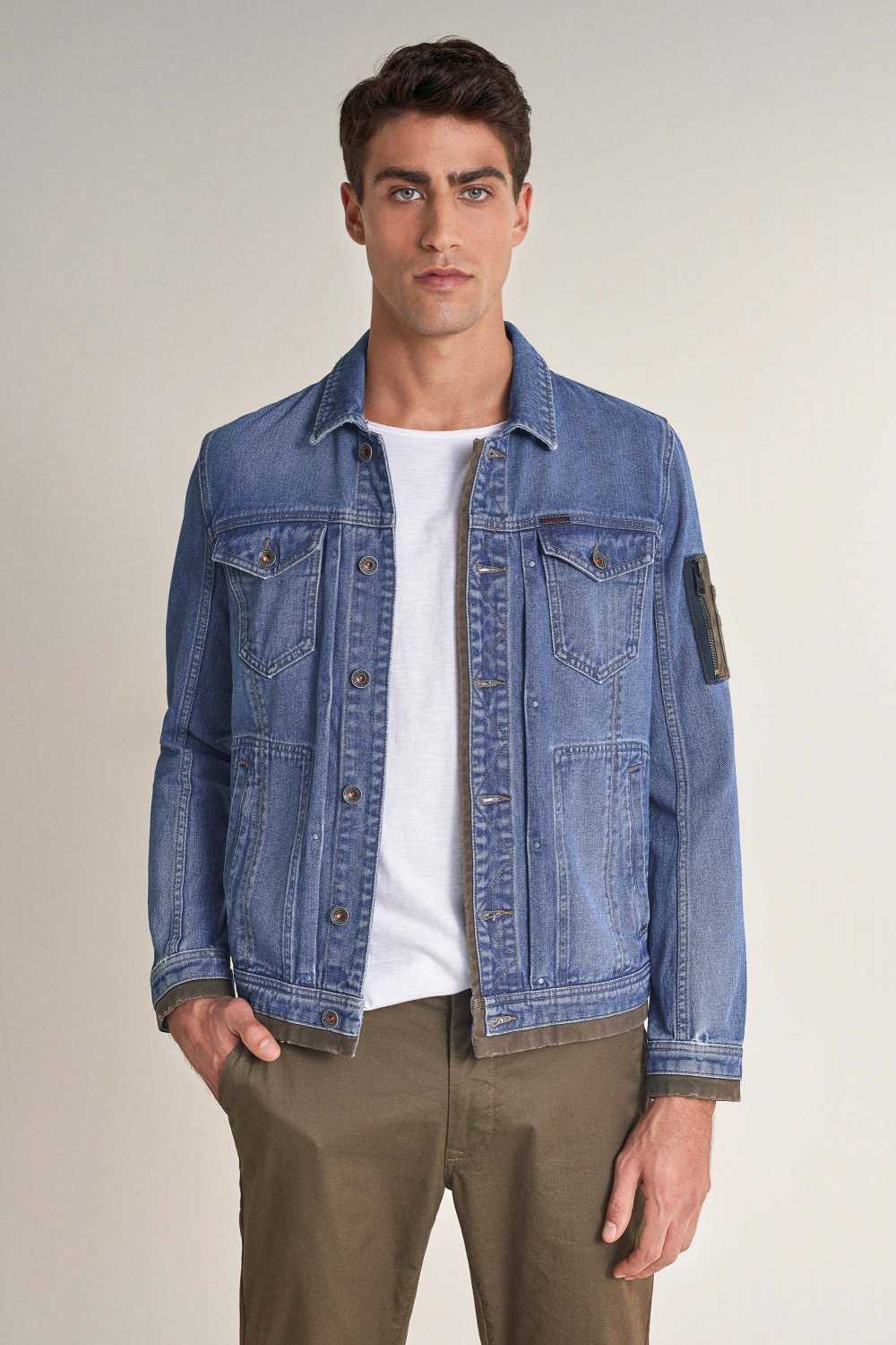 Denim jacket with twill details - Salsa