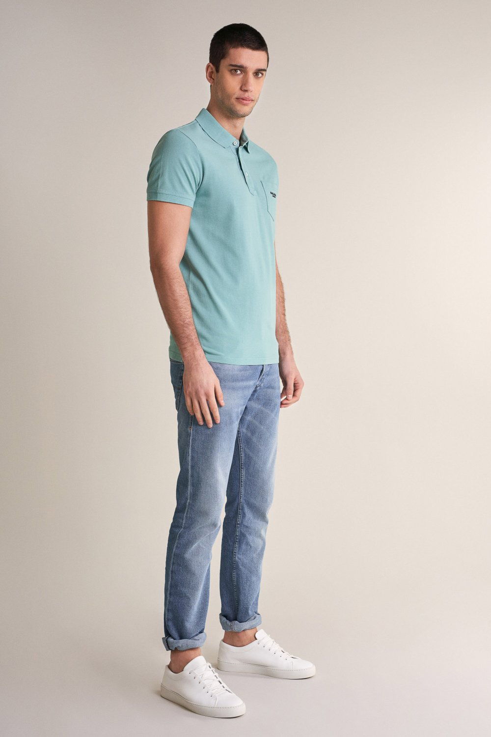 Regular fit polo with dyed effect - Salsa