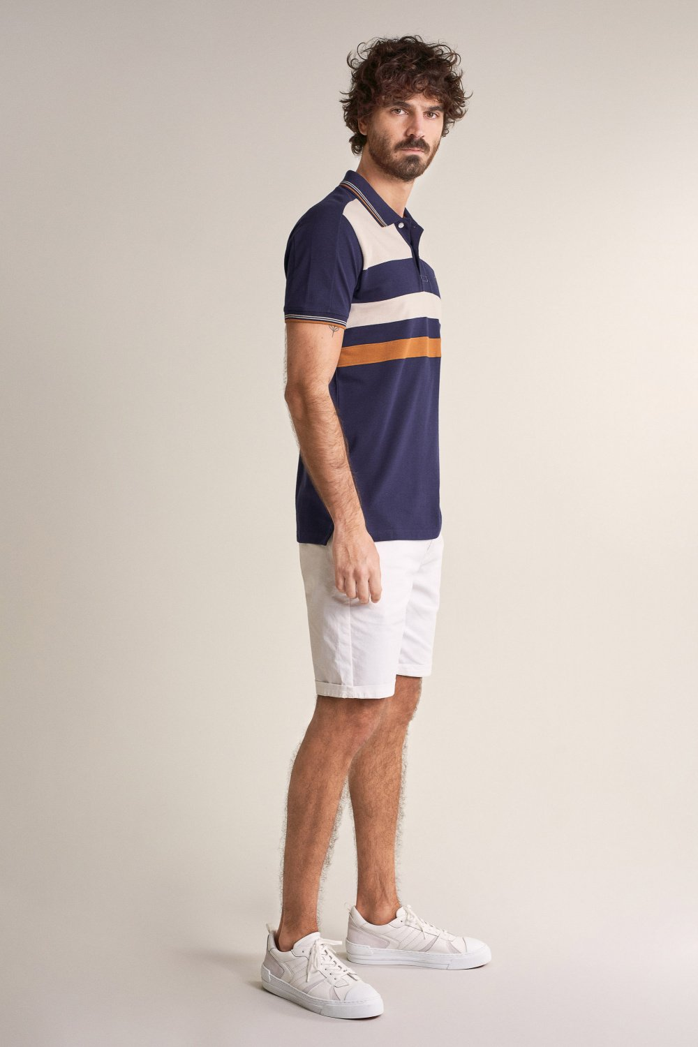 Regular fit polo with design effect on chest - Salsa