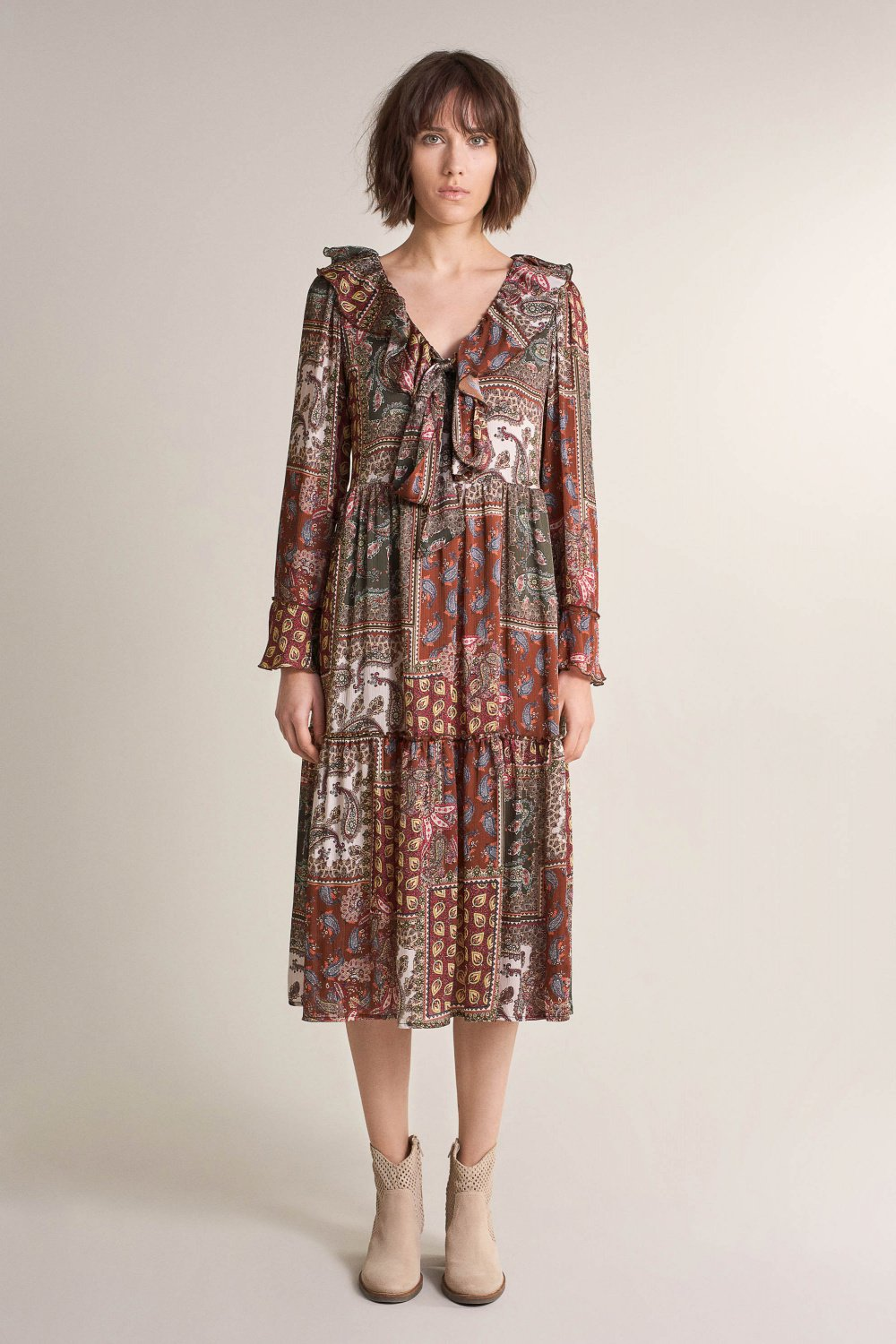 Printed Paisley Dress - Salsa