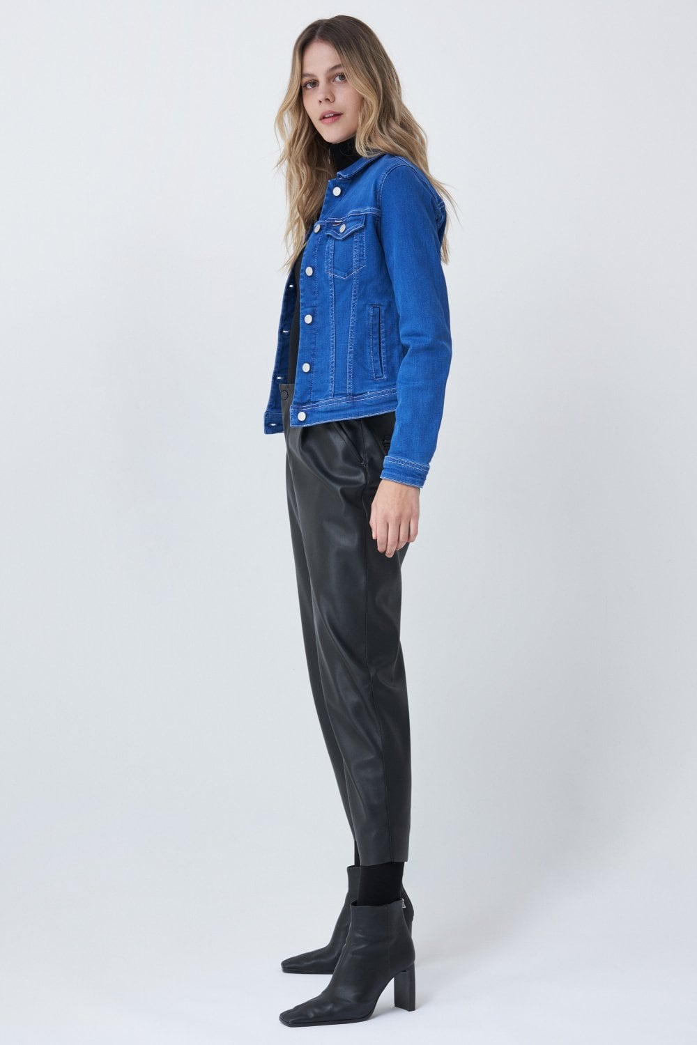 Jacket made in bright blue wash denim - Salsa