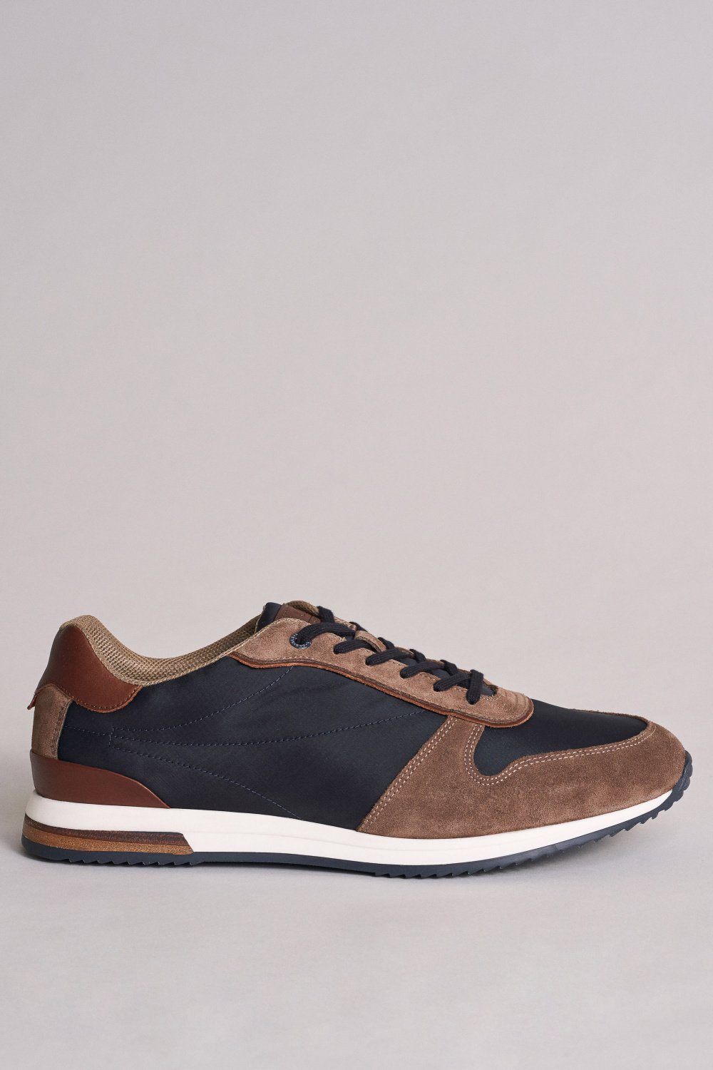 Suede trainers with side leather inserts - Salsa