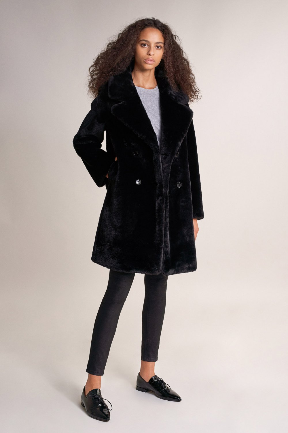 Overcoat in synthetic fur - Salsa