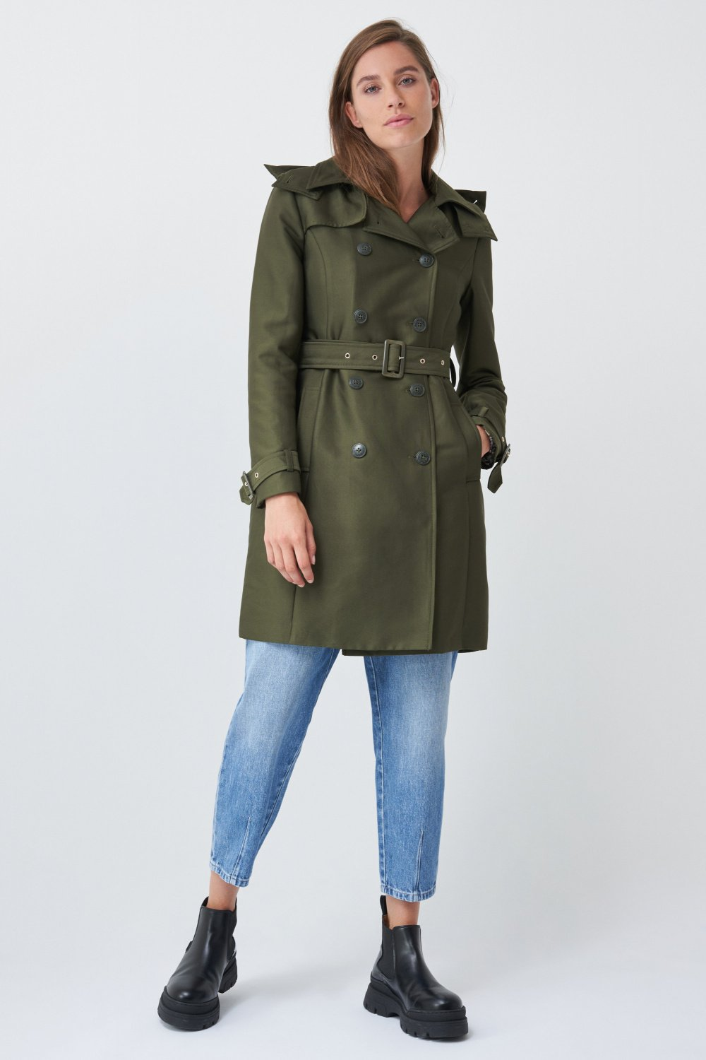Trench coat with belt and hood - Salsa