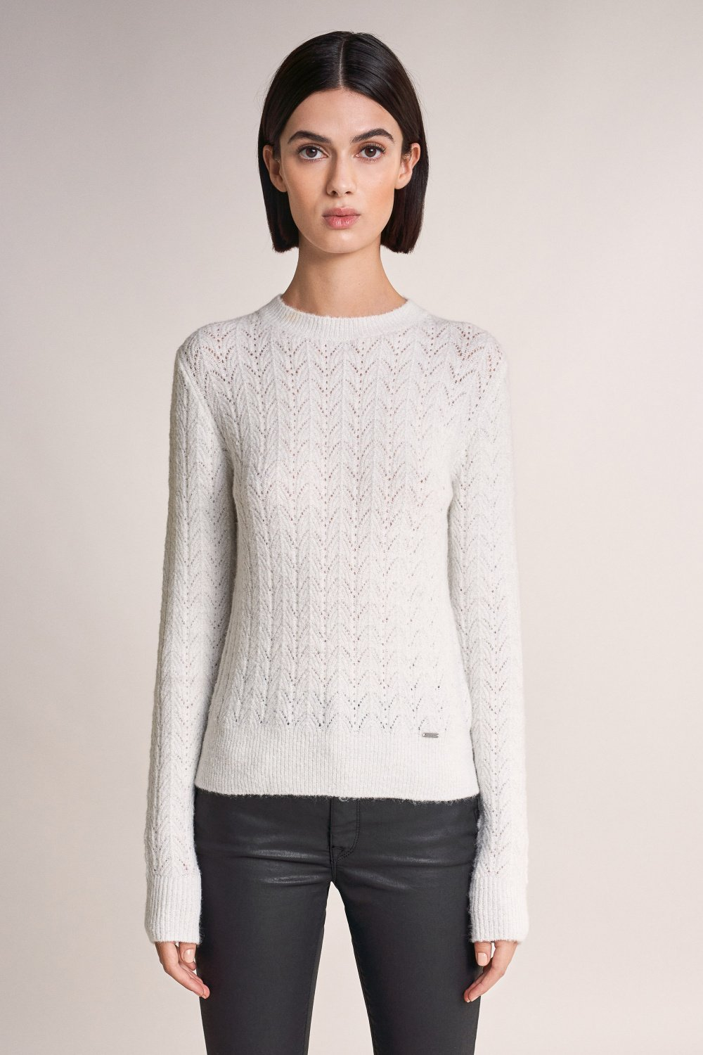 Thick knitted sweater with sparkles - Salsa