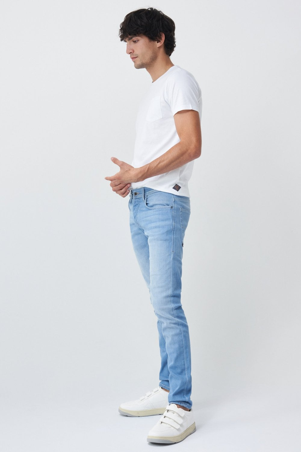Clash skinny spartan washed effect jeans - Salsa
