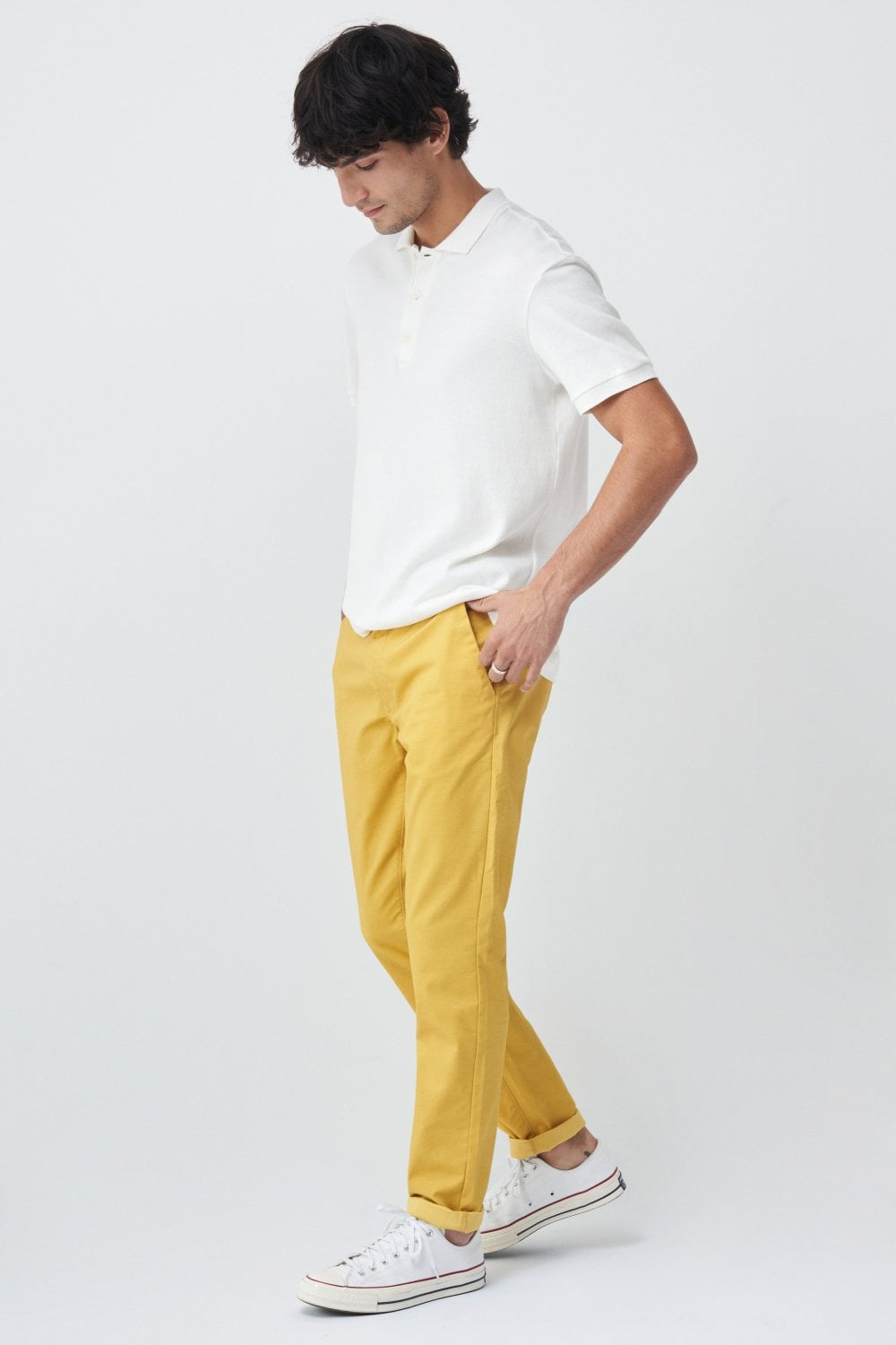 Slimfit chinos with mciroprint - Salsa