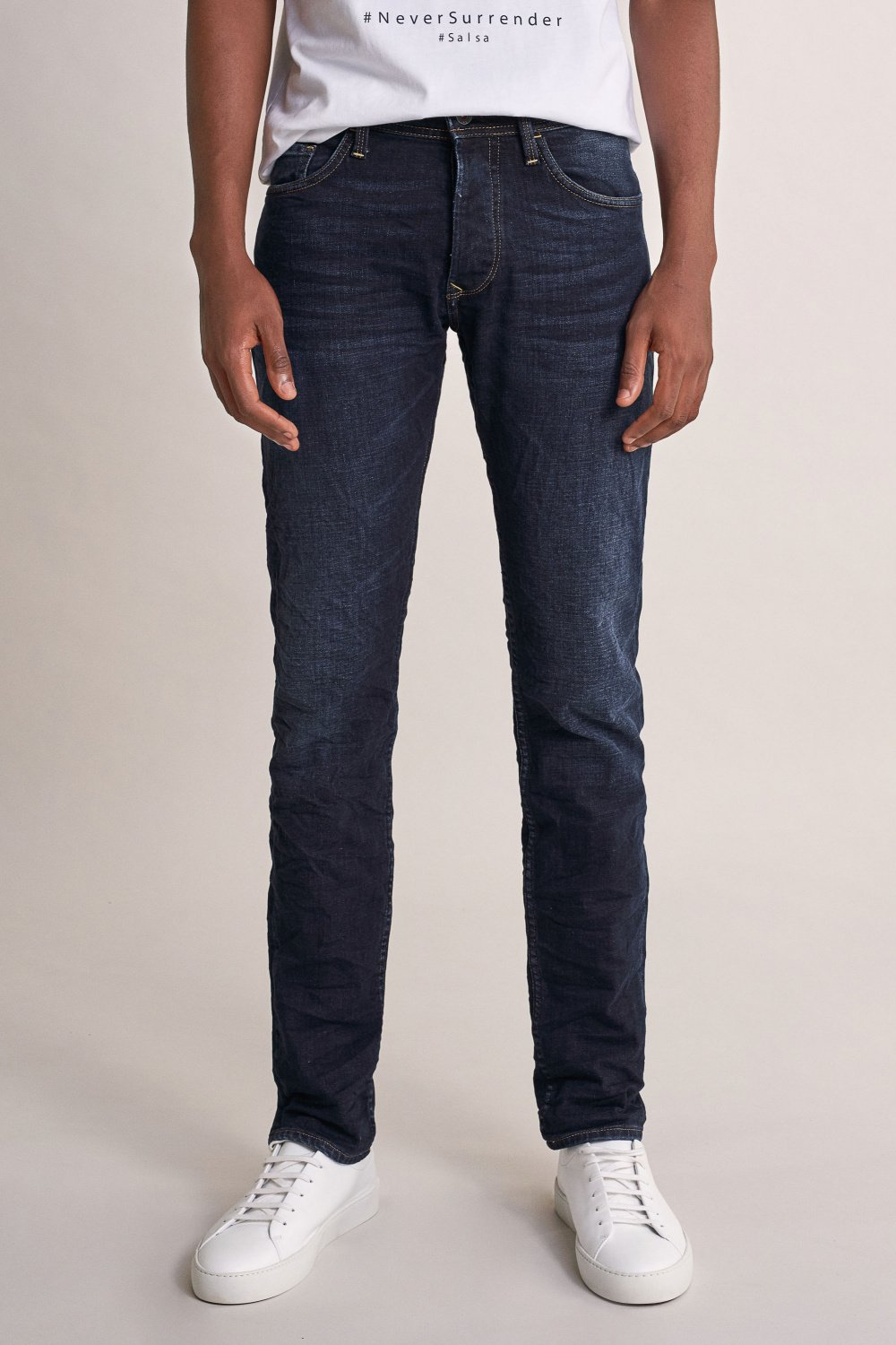 Jeans lima tapered ready to go escura - Salsa